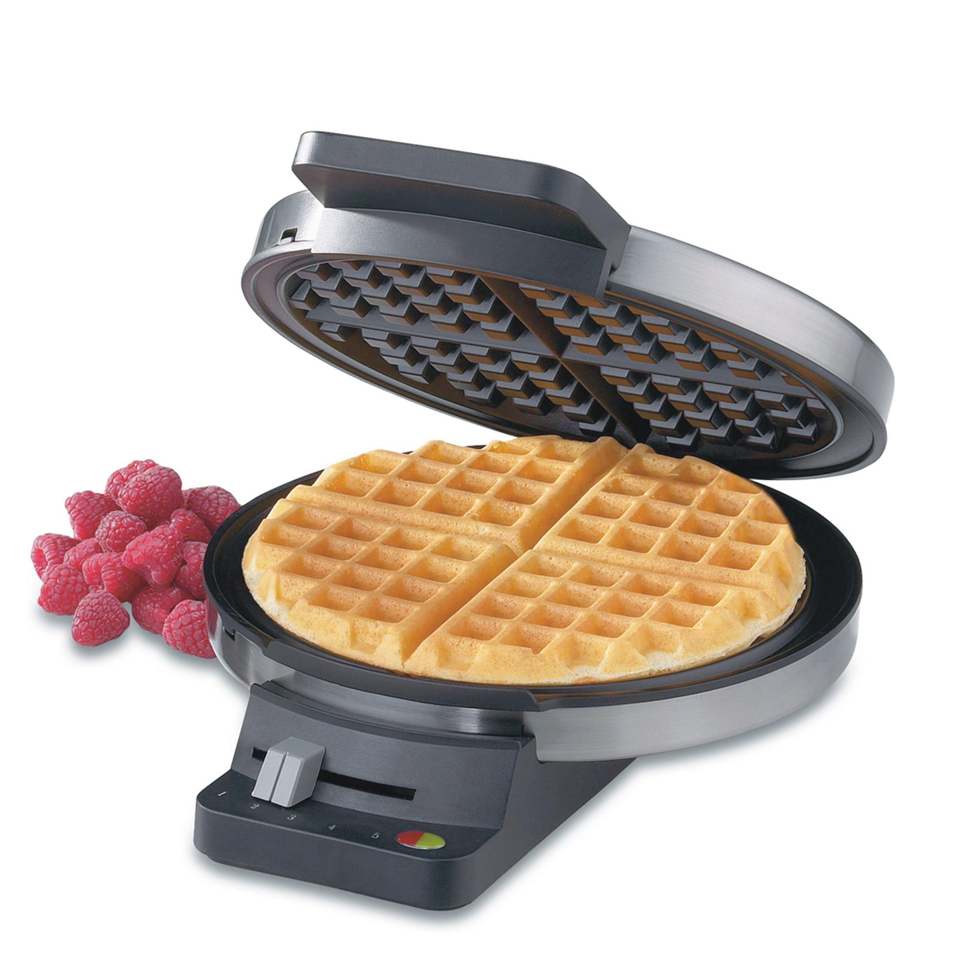 Wafflera redonda clásica de acero inoxidable Cuisinart®