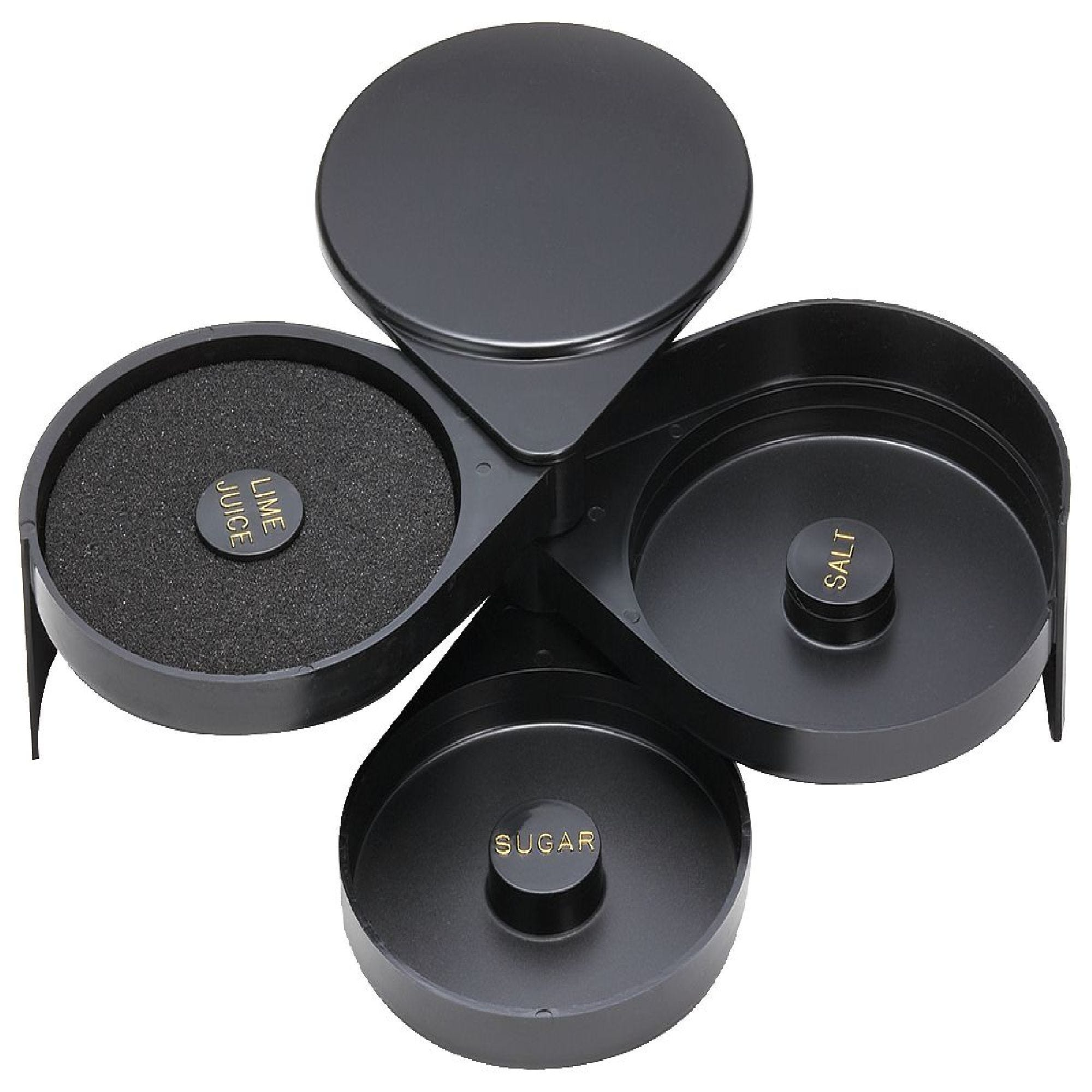 Escarchador para margaritas de plástico color negro