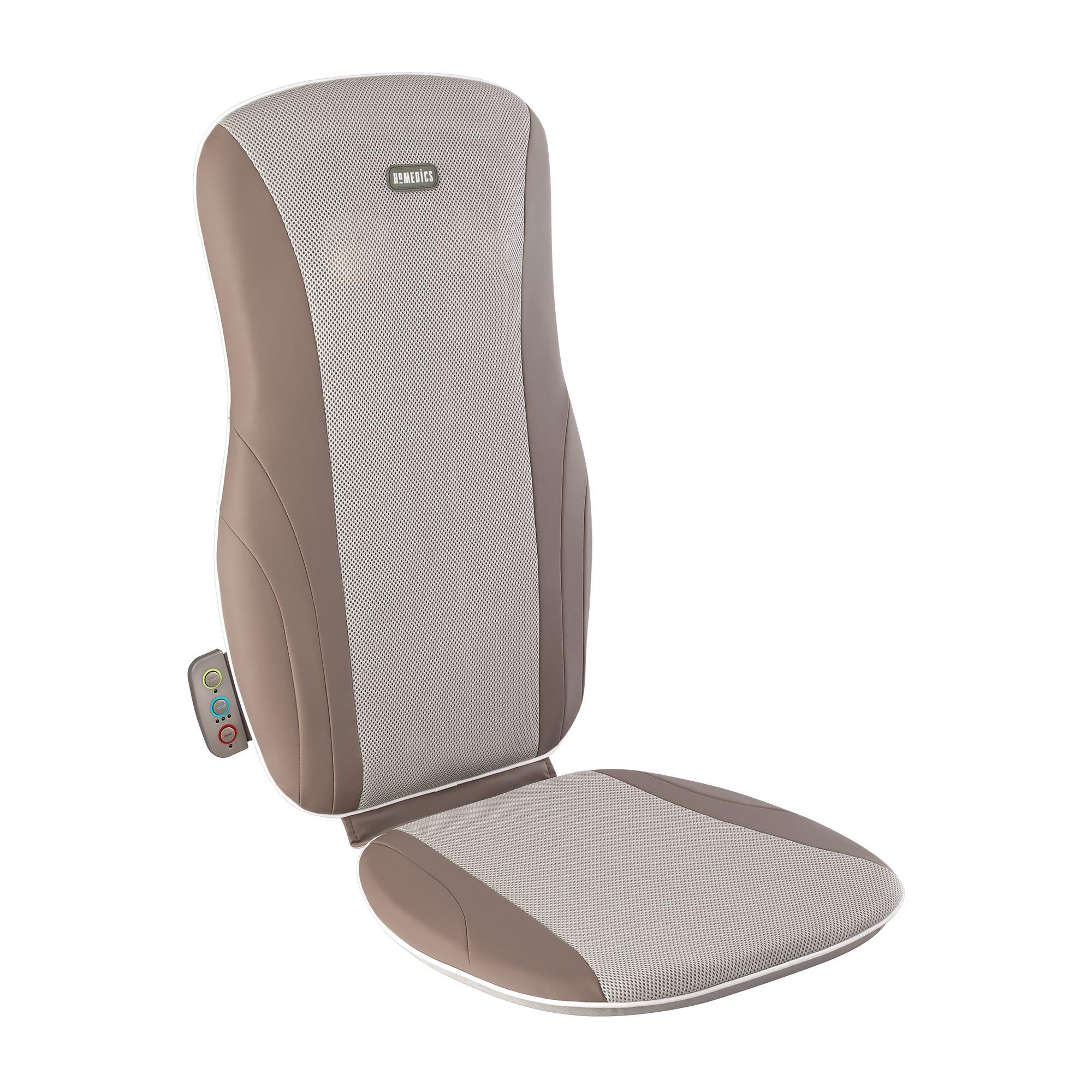 Asiento de masaje tipo shiatsu HoMedics®, con calor en café