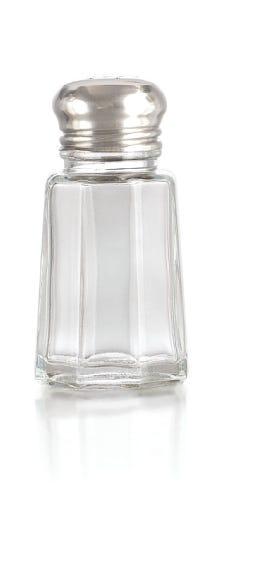 Salero hexagonal chico de vidrio