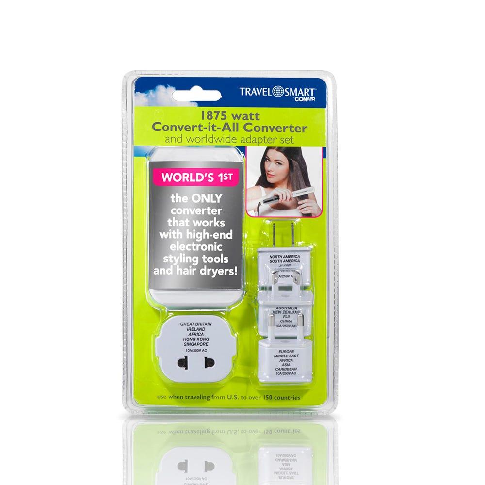 Convertidor y adaptador de electricidad Conair® Travel Smart™