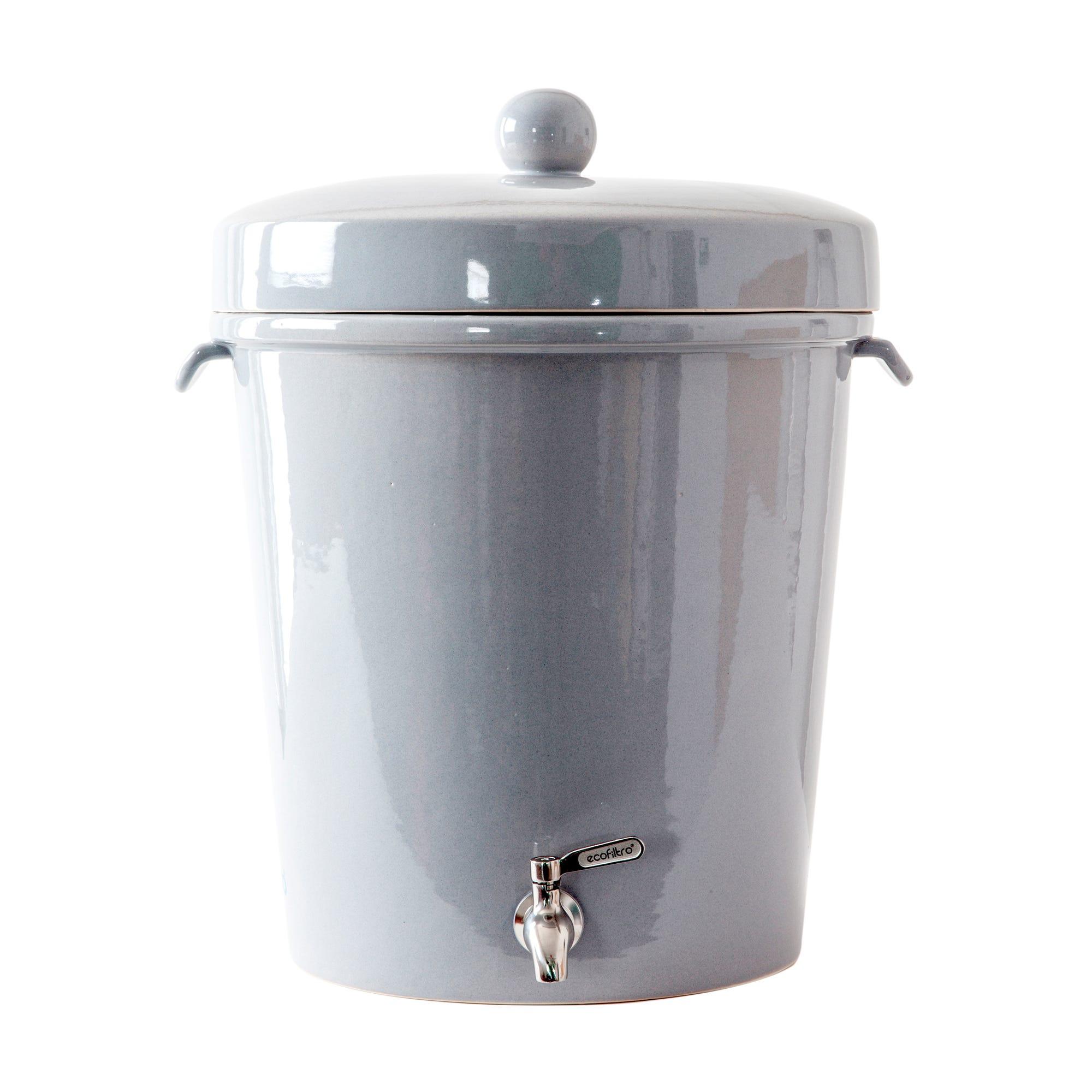 Filtro de agua de cerámica grande, Ecofiltro 20 L en gris