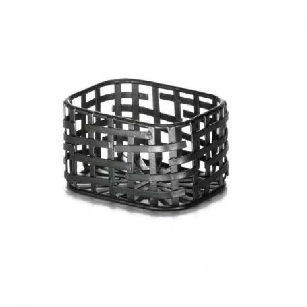 Azucarera con diseño enrejado de metal
