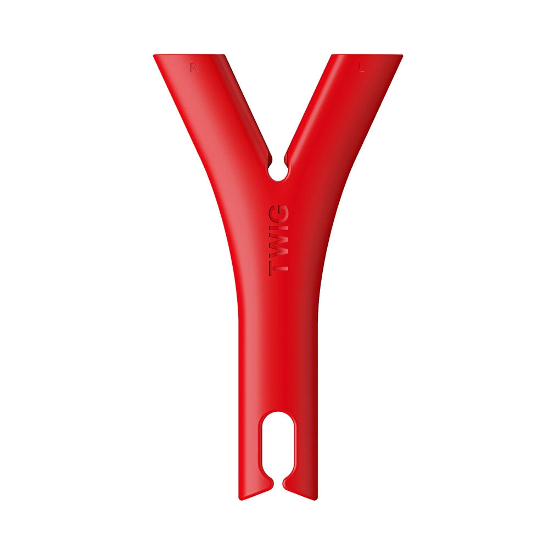 Organizador de cables para audífonos Twig® de plástico color rojo