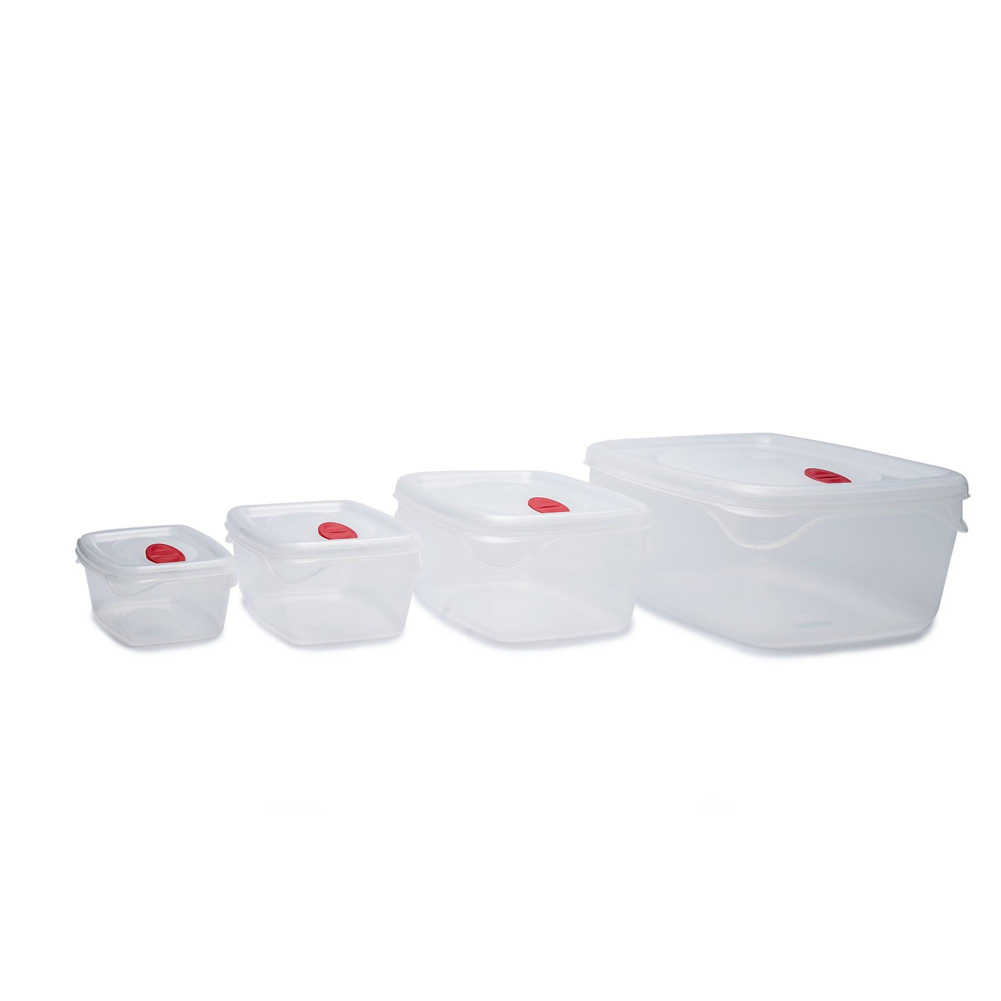 Set de contenedores rectangulares, Bama 8 piezas