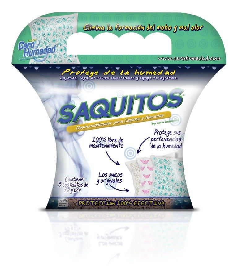 Costalitos absorbentes de humedad de silica gel Cero Humedad Saquitos® de 75 g, Set de 3