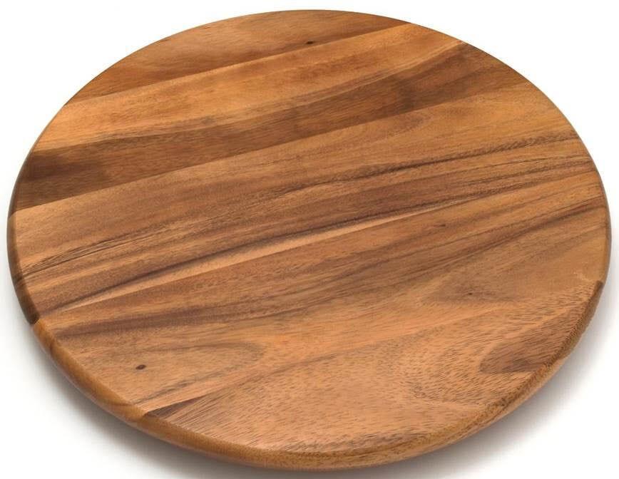 Base giratoria de madera de acacia Reimart de 41.14 cm