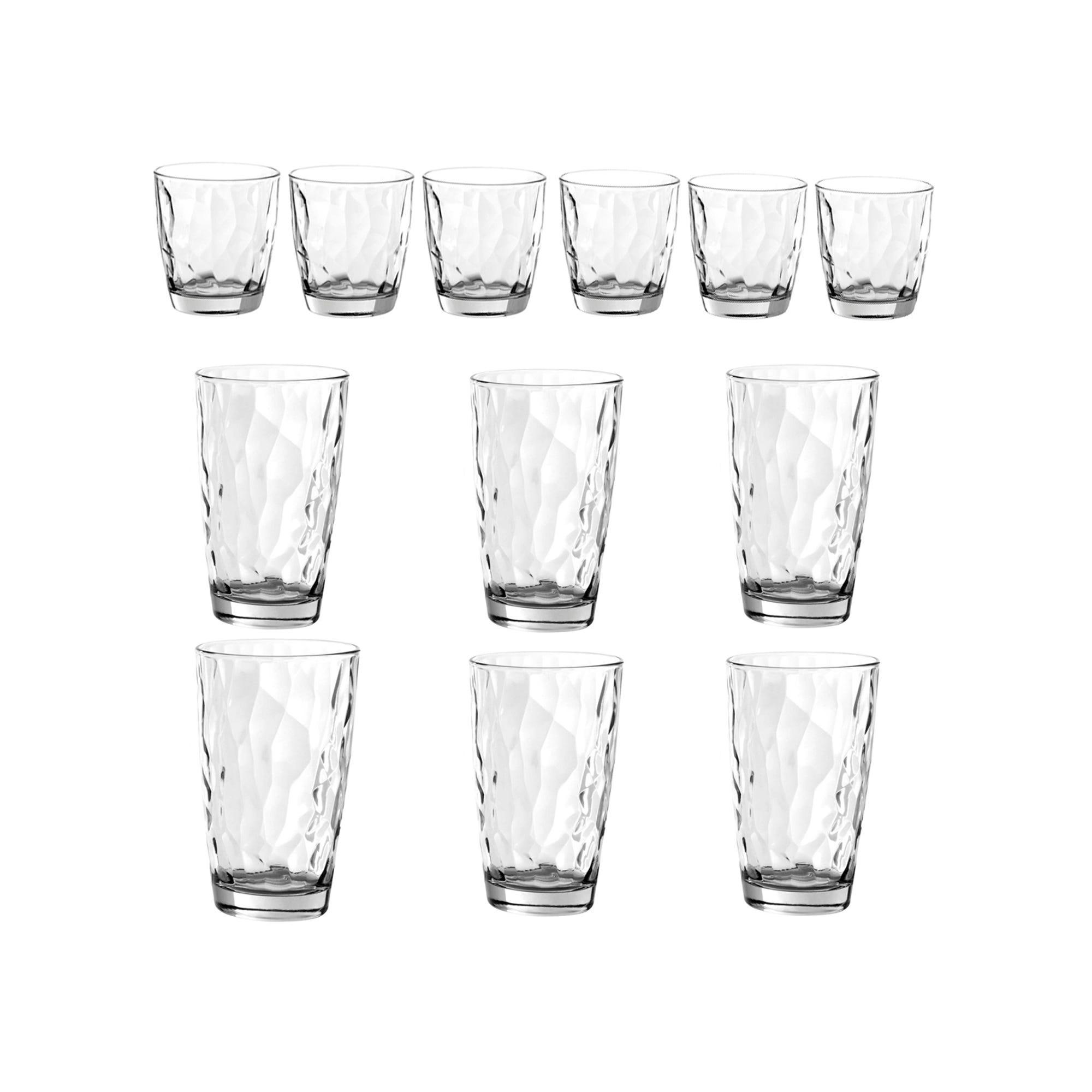 Vasos de vidrio de vidrio HB/DOF, Iceberg Set de 12
