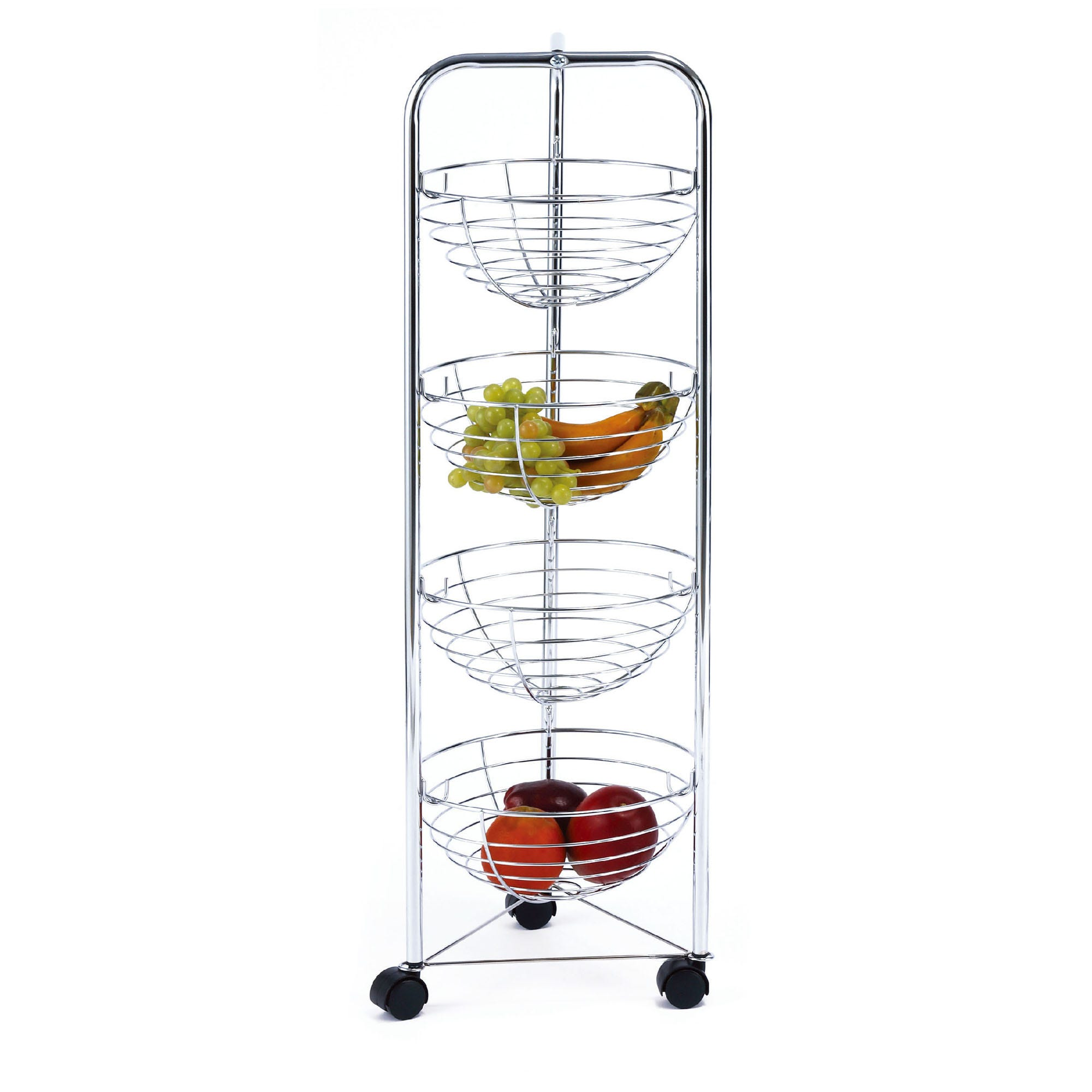 Carrito frutero Namaro Design™, con 4 canastillas y ruedas