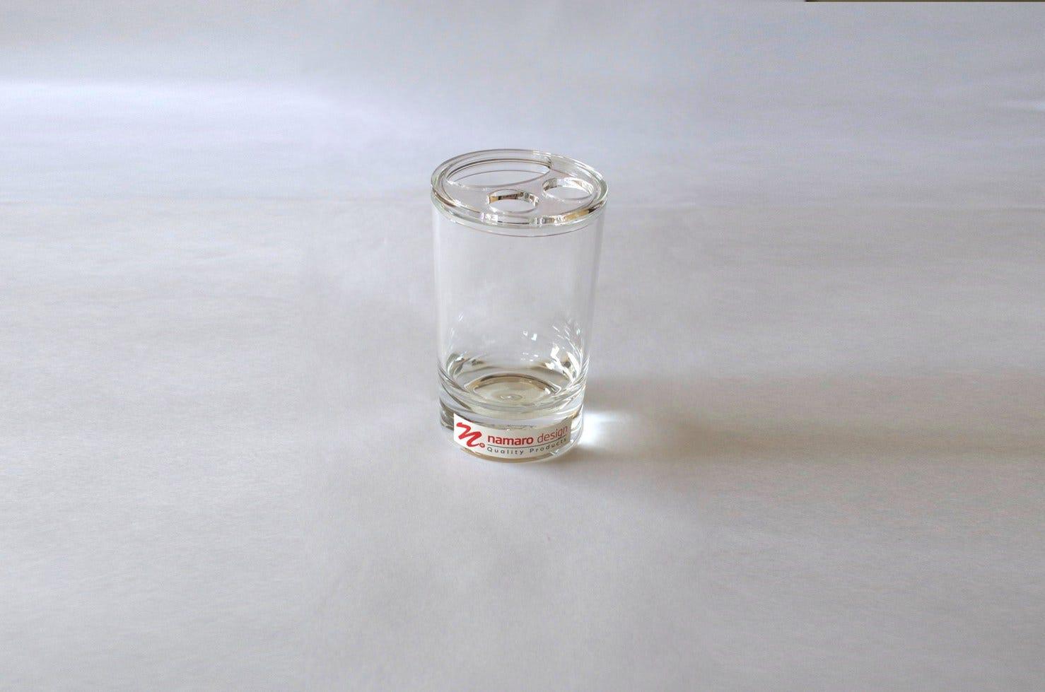 Portacepillos de dientes Namaro Design transparente
