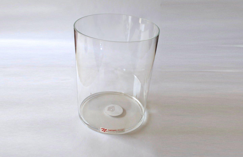 Bote de basura Namaro Design transparente