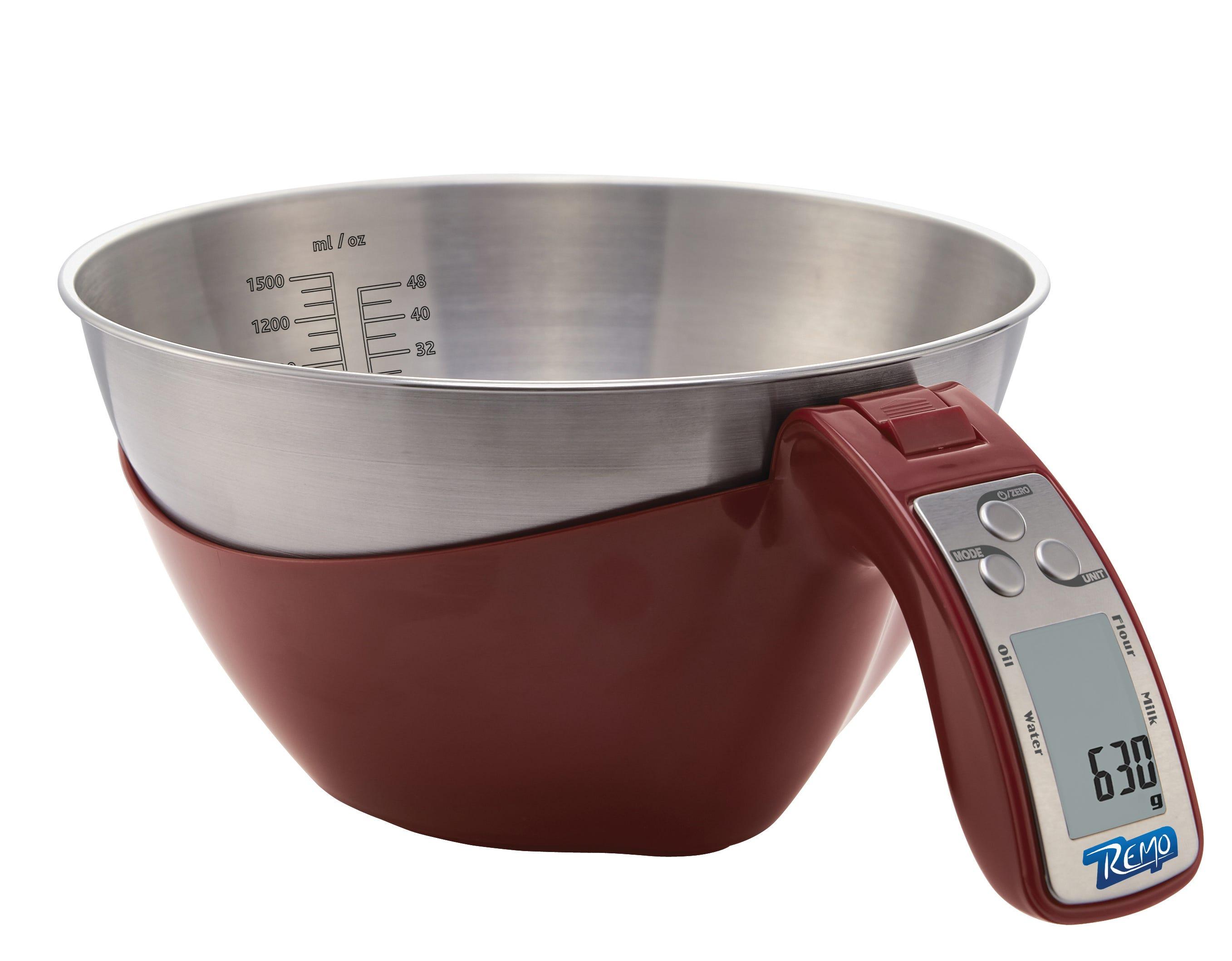 Báscula de cocina en rojo