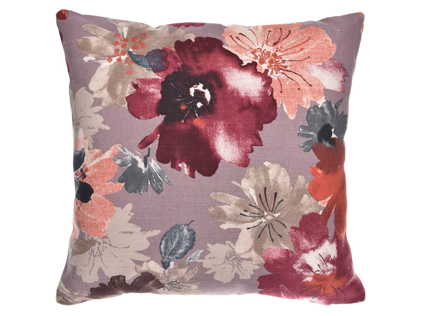 Cojín decorativo de poliéster Saratoga con tacto suave estampado floral multicolor