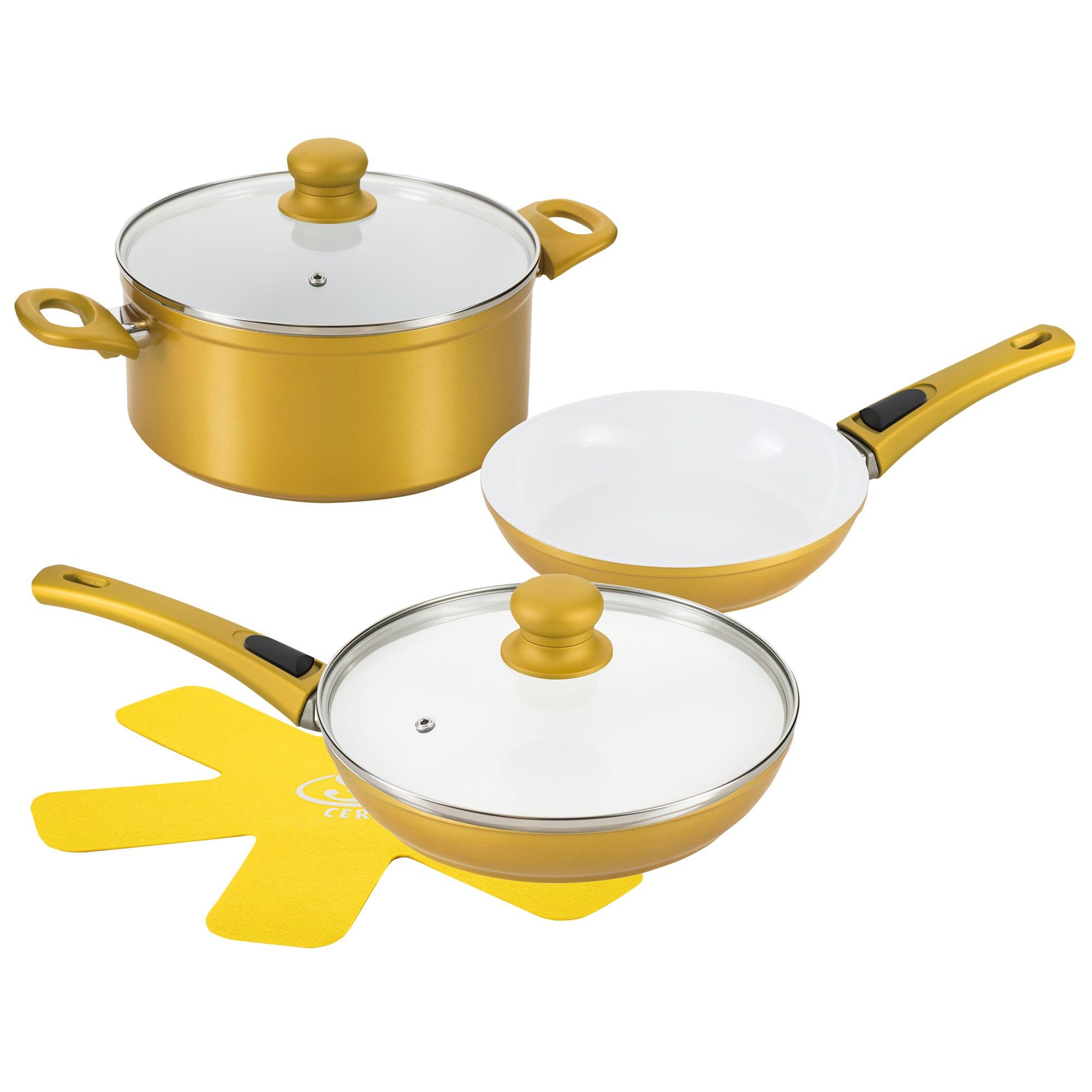 Batería de cocina de cerámica Cerafit Master color dorado