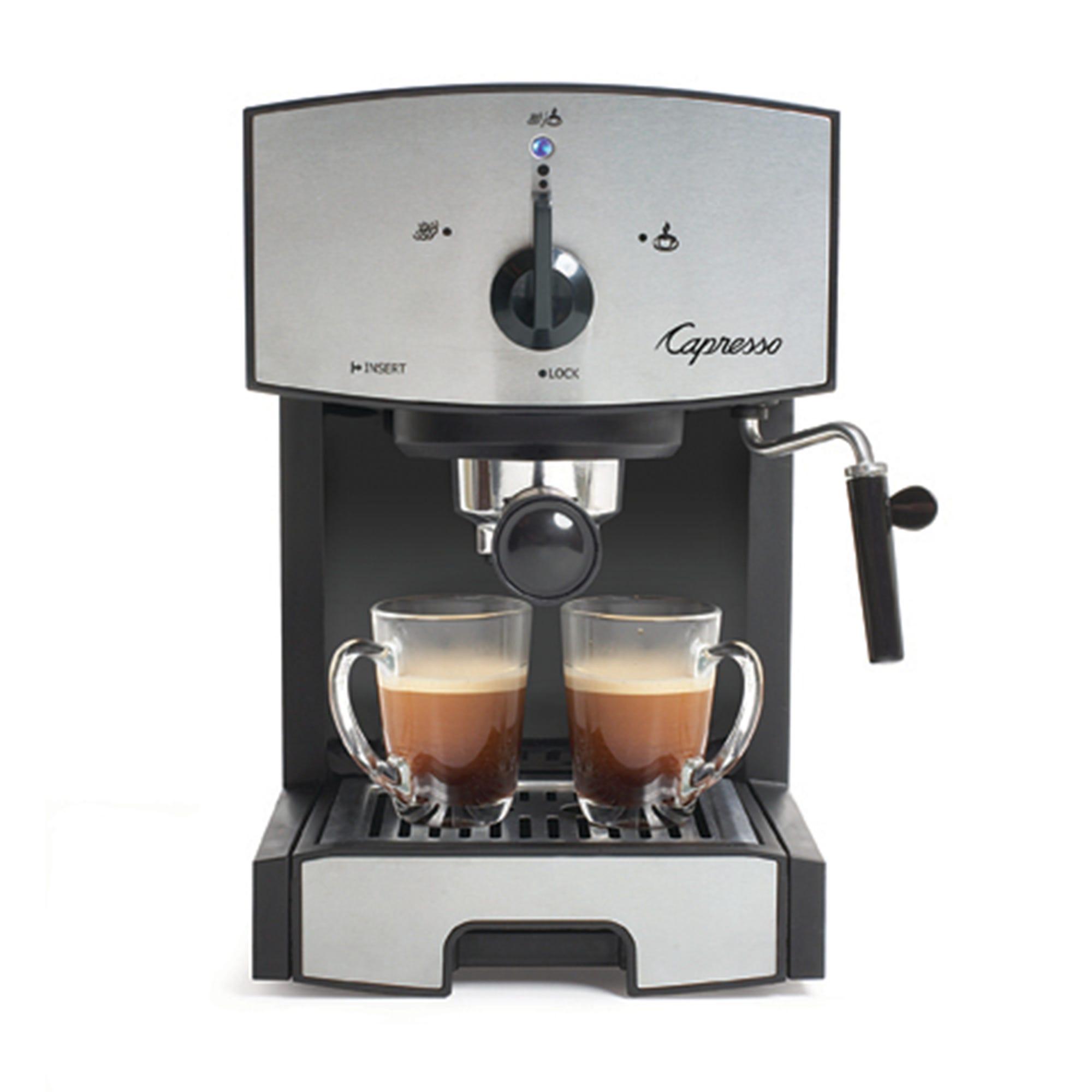 Cafetera de acero inoxidable Capresso® EC50, con bomba para expresso y capuchino