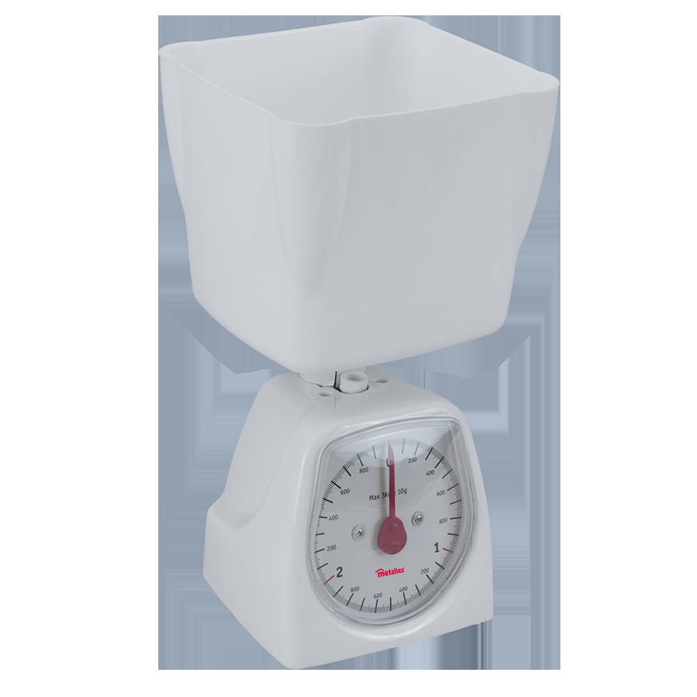 Báscula análoga de cocina metaltex® en blanco