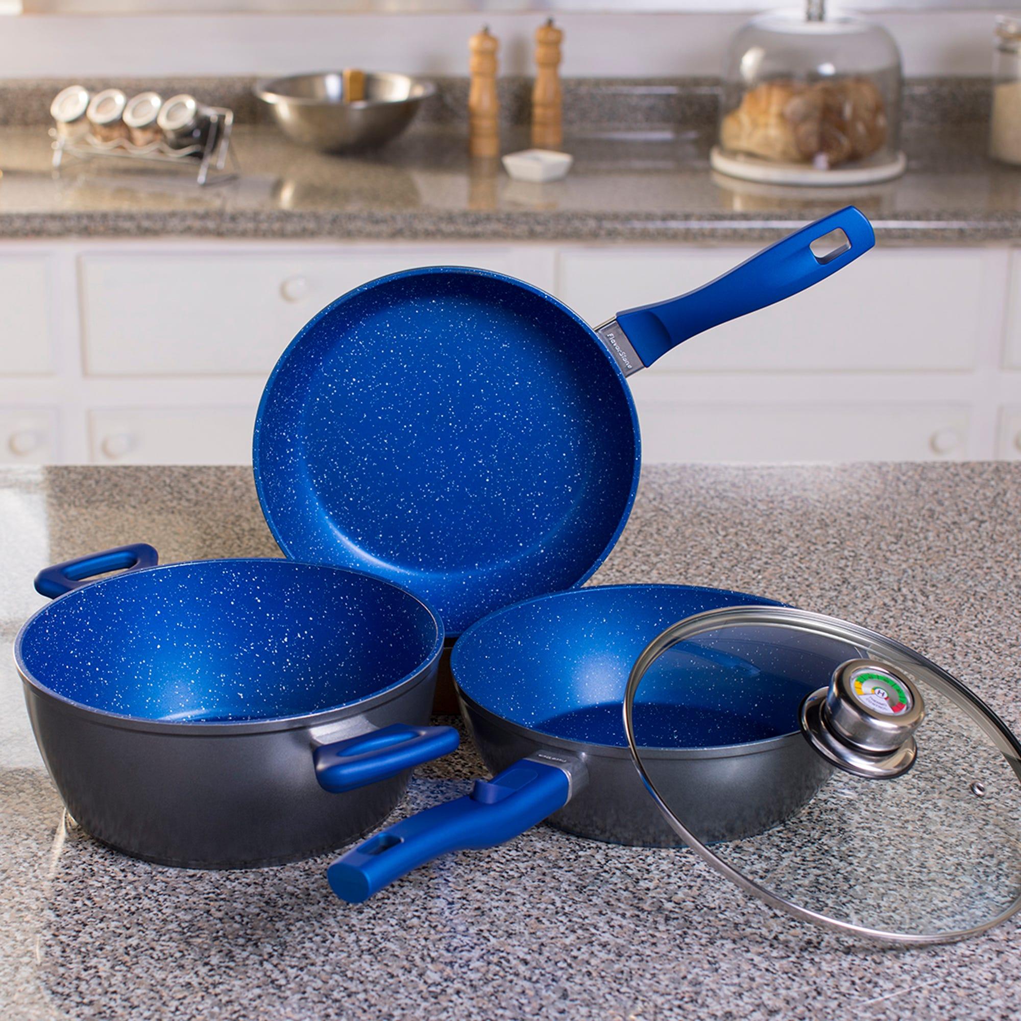 Set de sartenes Master Flavor Stone en azul