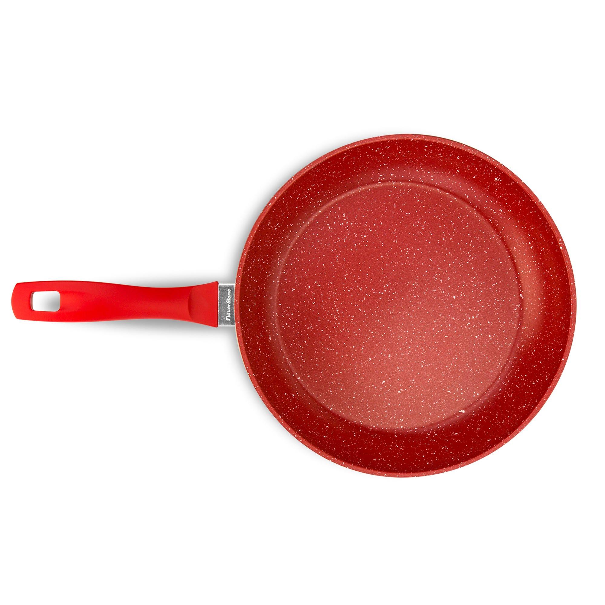 Sartén para saltear Flavor Stone de 28 cm en rojo