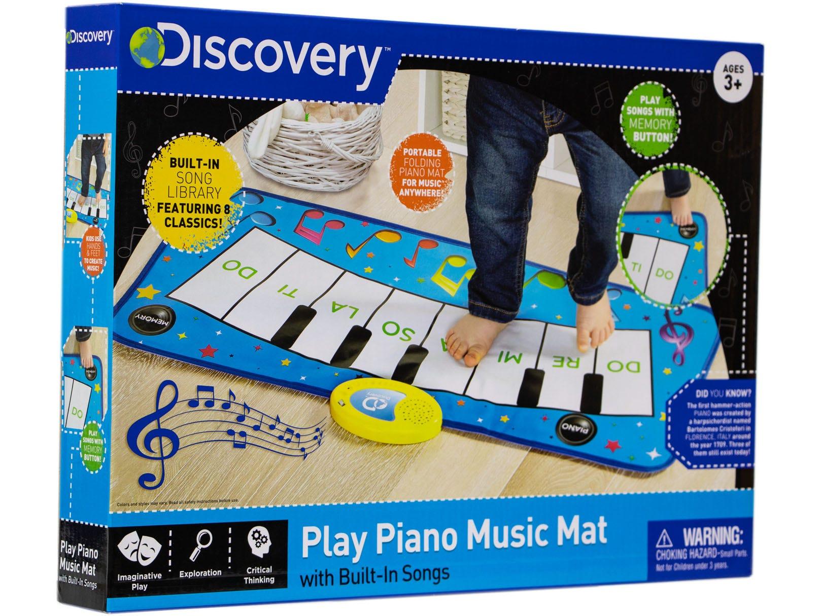 Tapete de piano musical de plástico Discovery Kids