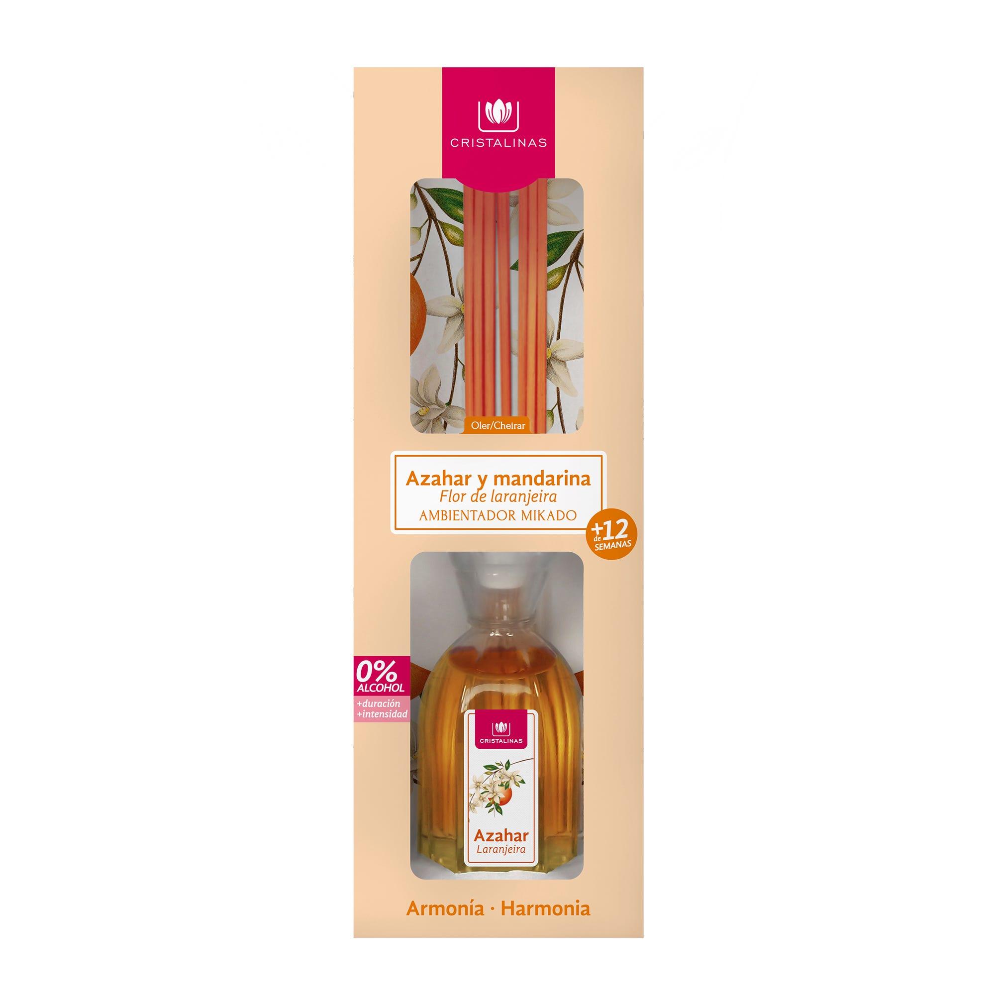 Ambientador mikado aroma azahar y mandarina, Cristalinas 90 mL