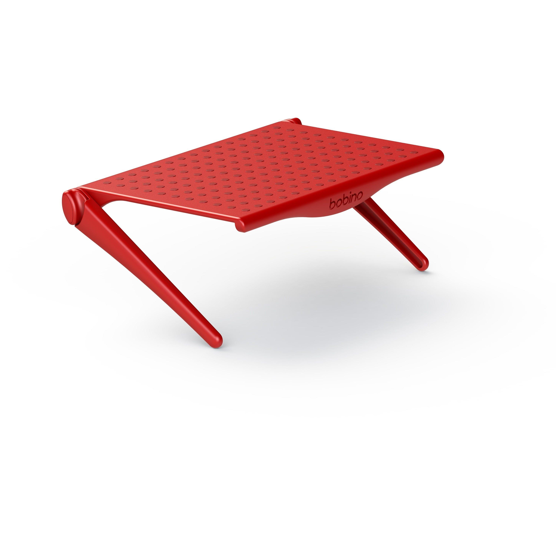 Repisa organizadora para televisión y computadora Bobino® en rojo