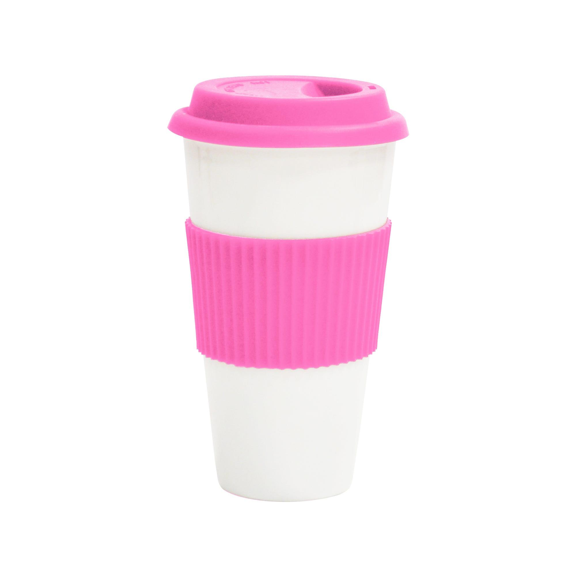 Termo de porcelana Grab&Go en rosa