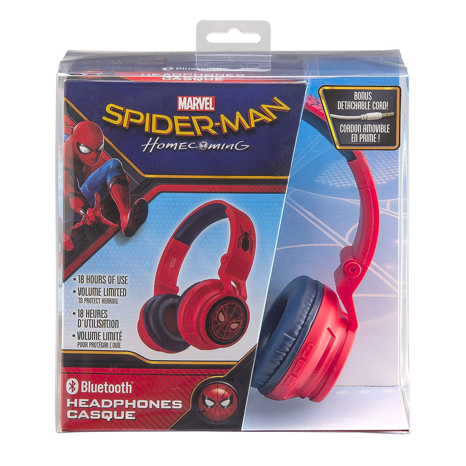 Audífonos  de Spiderman con bluetooth