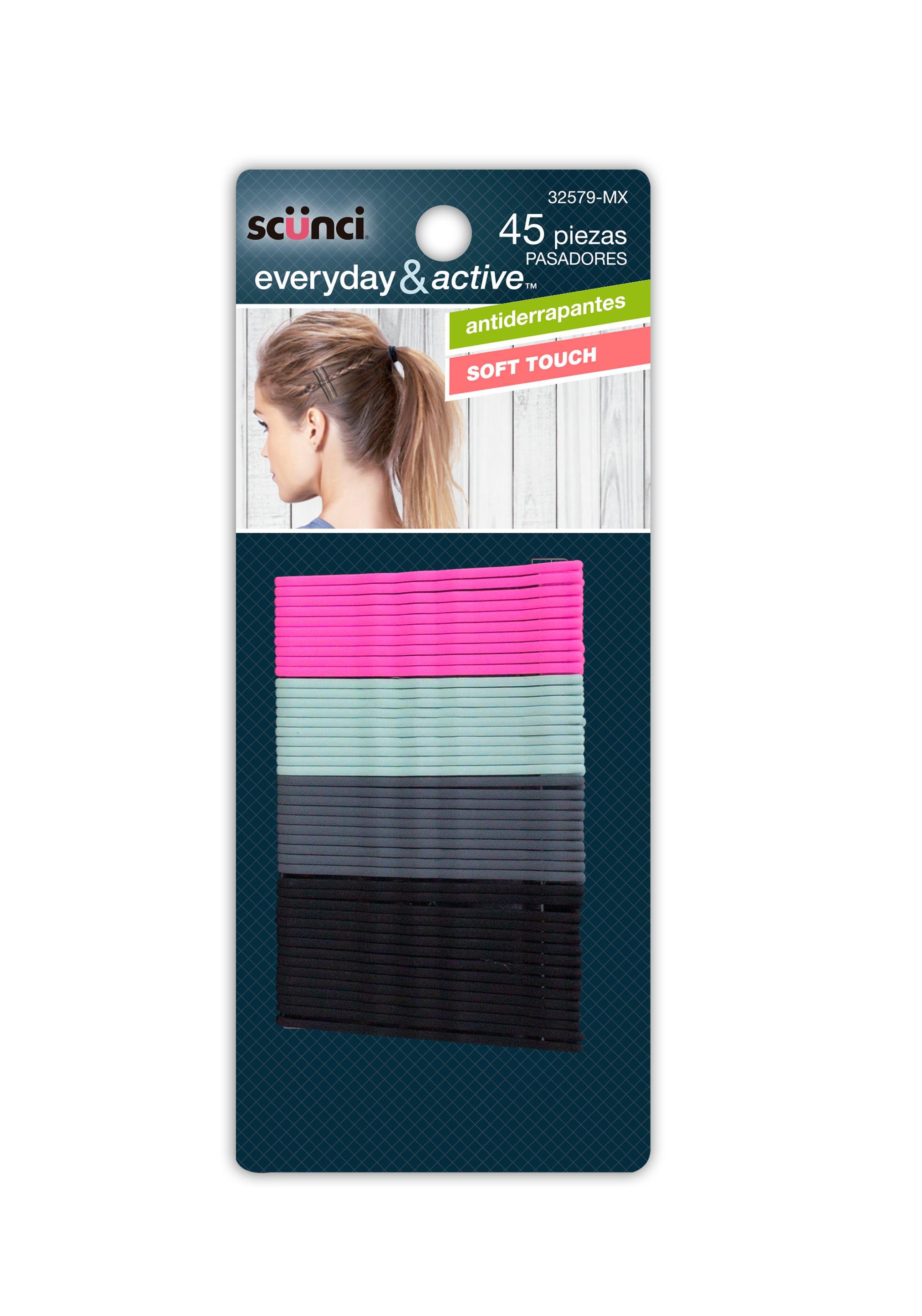 Pasadores de colores, Scünci Everyday & Active™ Paquete de 45 pzas.