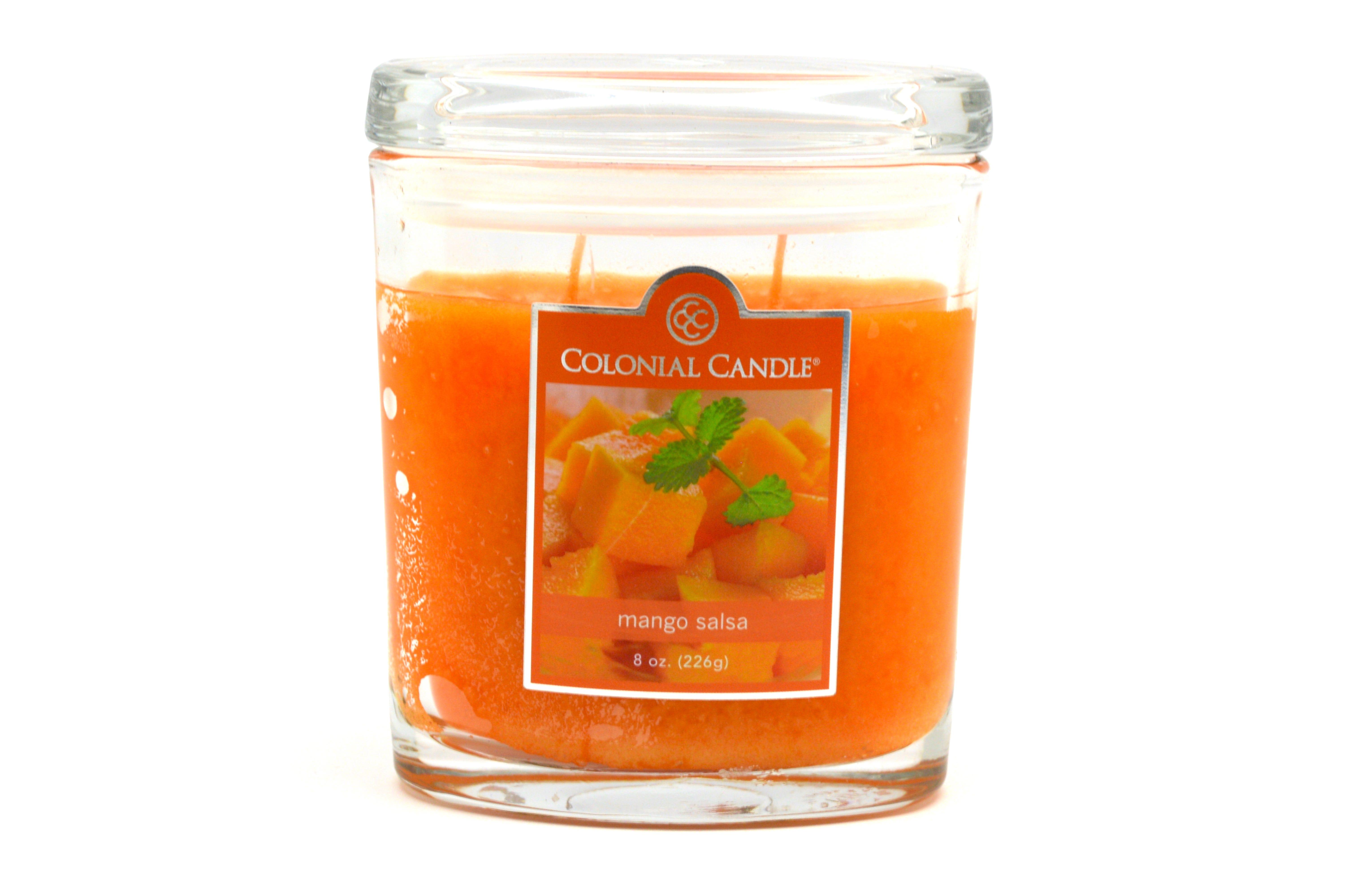 Vela en vaso de 2 pabilos Colonial Candle®, aroma mango, 226 g