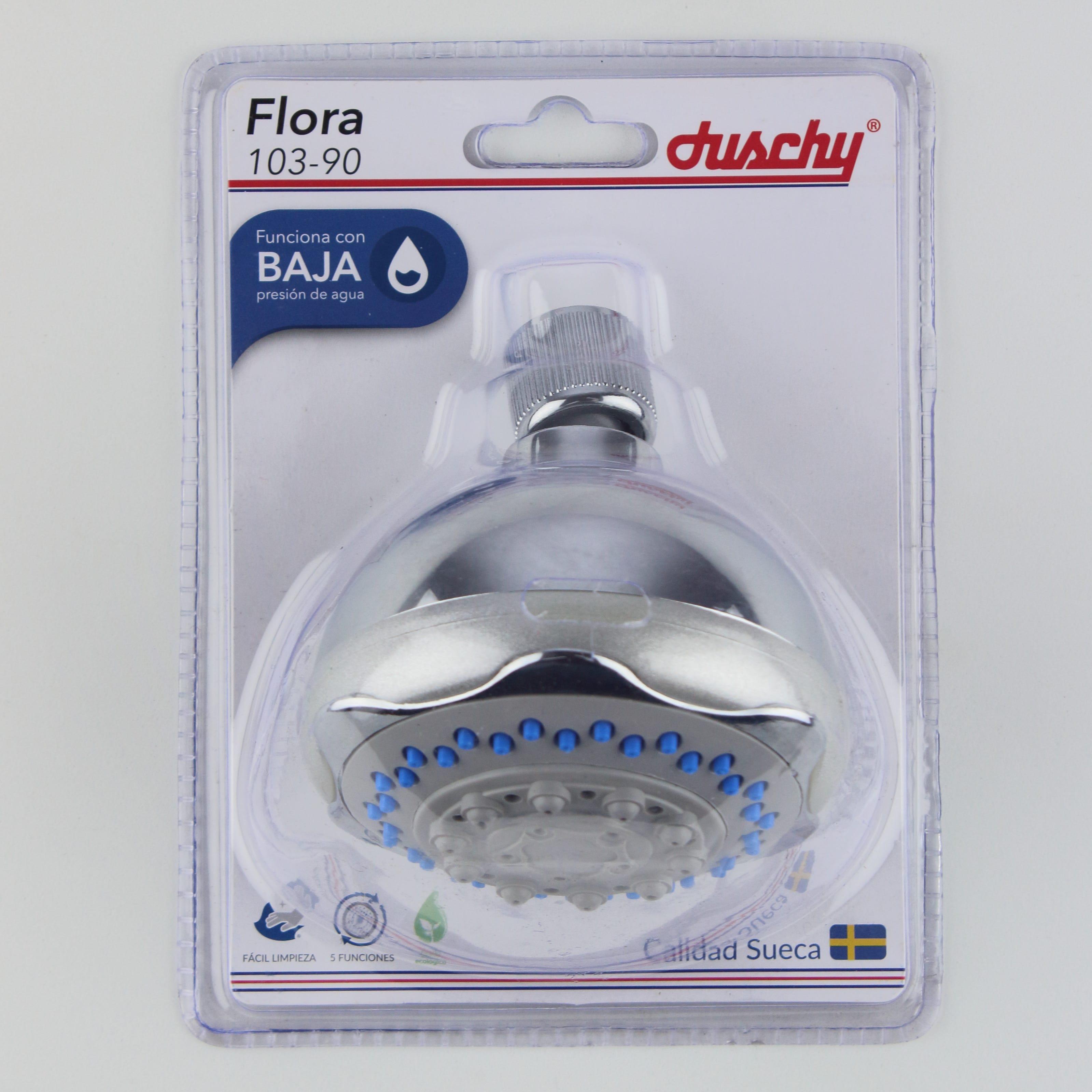 Regadera con acabado cromado Duschy Flora®