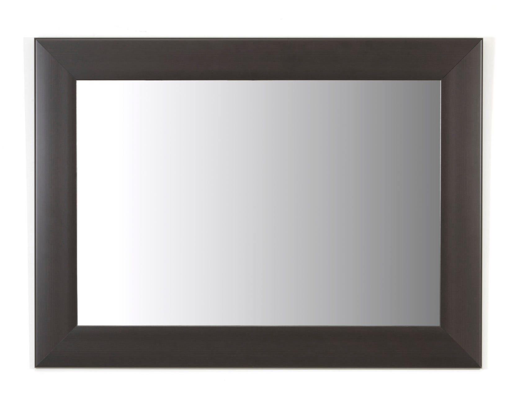 Espejo decorativo de 94.99 x 70 cm en chocolate