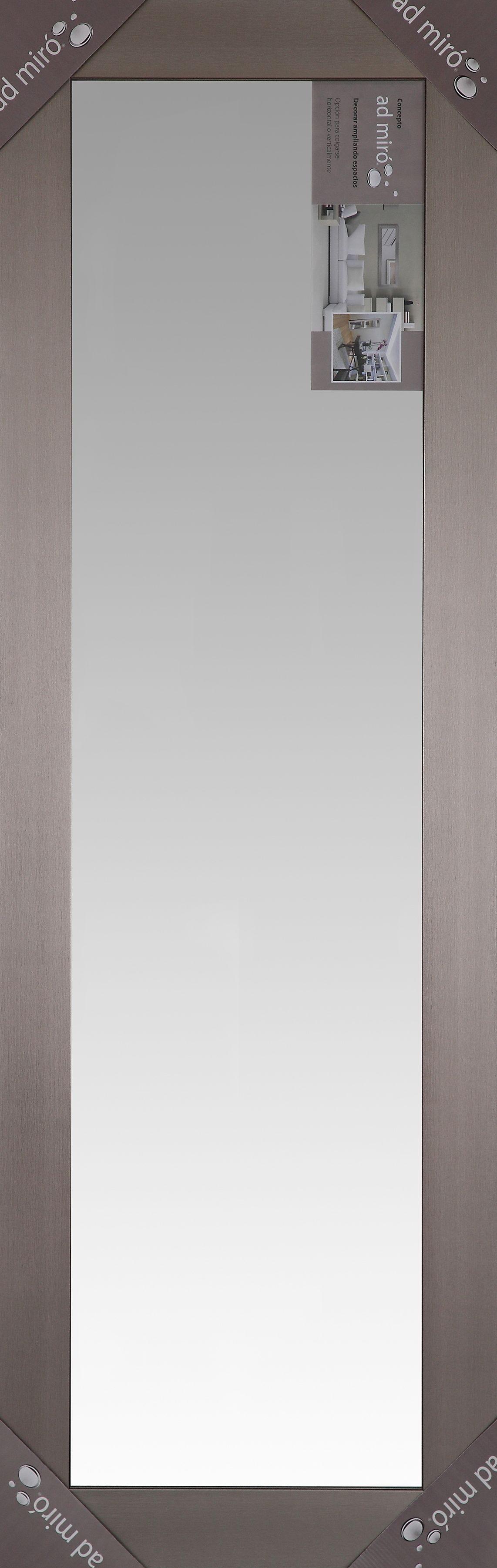 Espejo de cuerpo entero de 1.43 m x 46.99 cm en plata