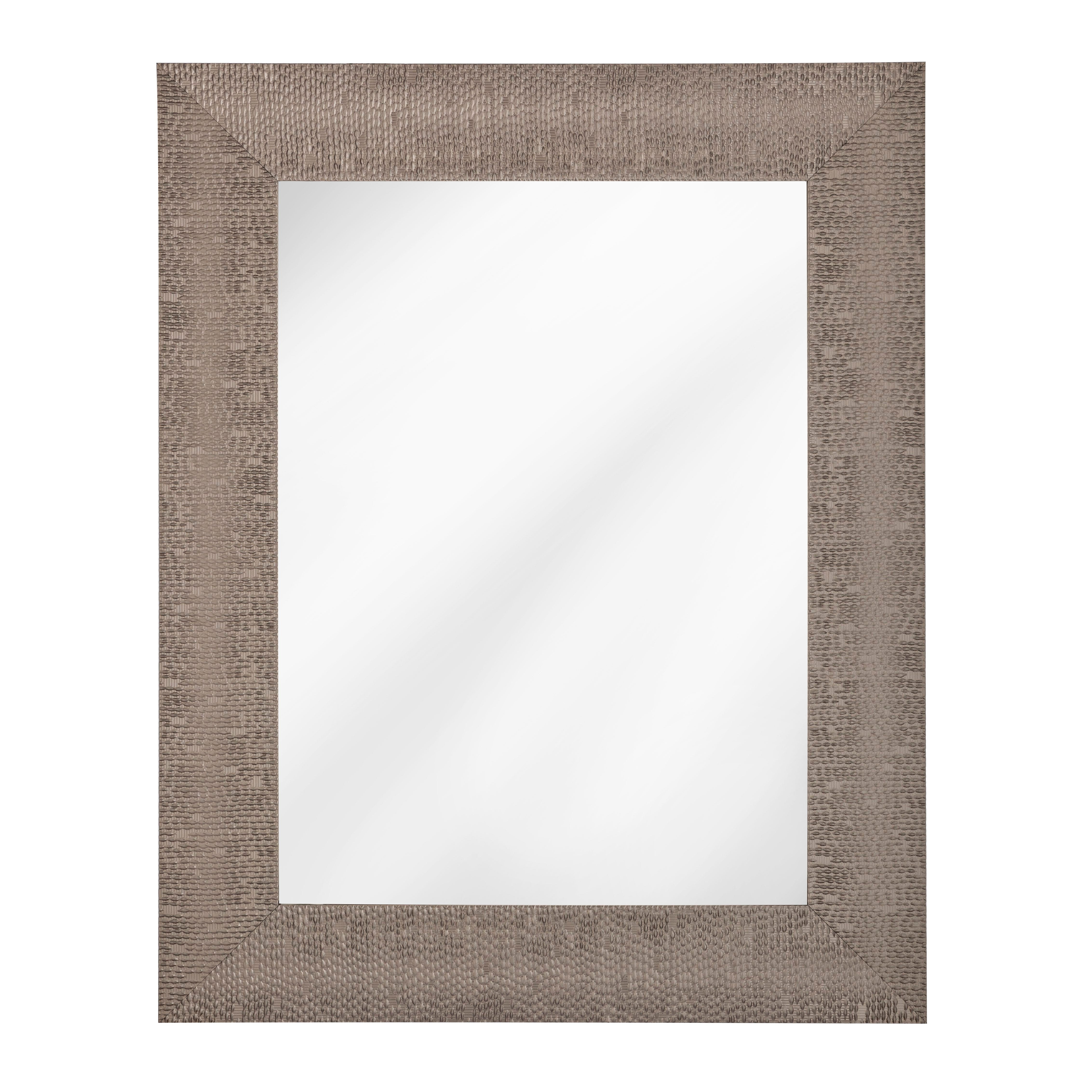 Espejo decorativo de 78.68 x 62 cm en plata