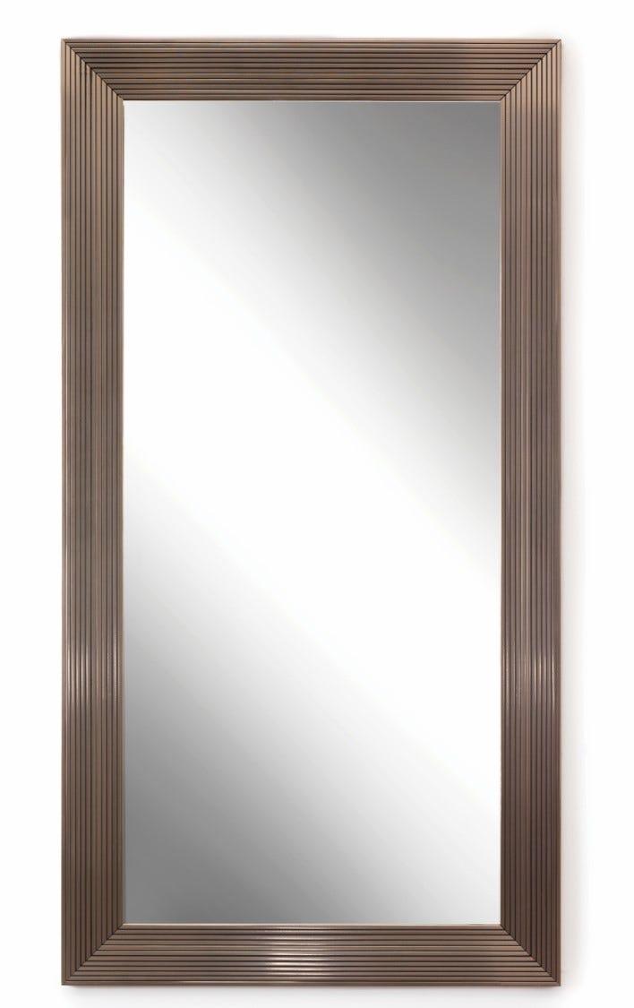 Espejo de piso de 1.89 m x 82.7 cm en plata