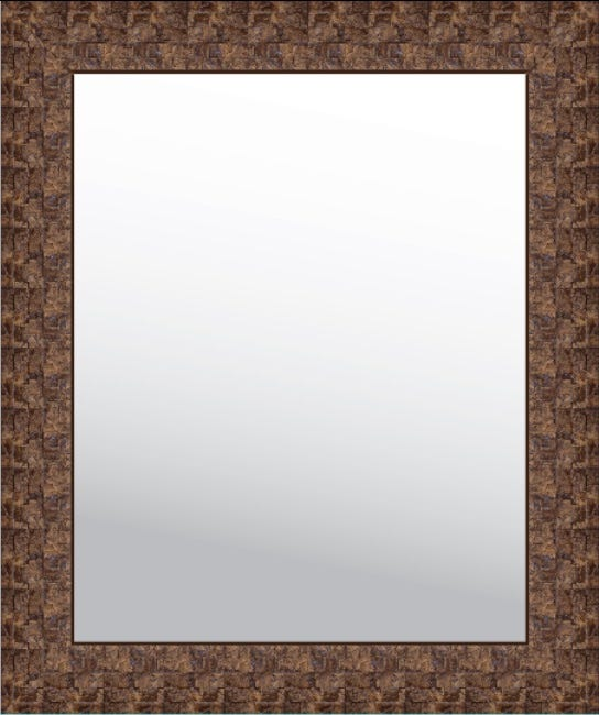 Espejo decorativo de 73.07 x 61.21 cm en café