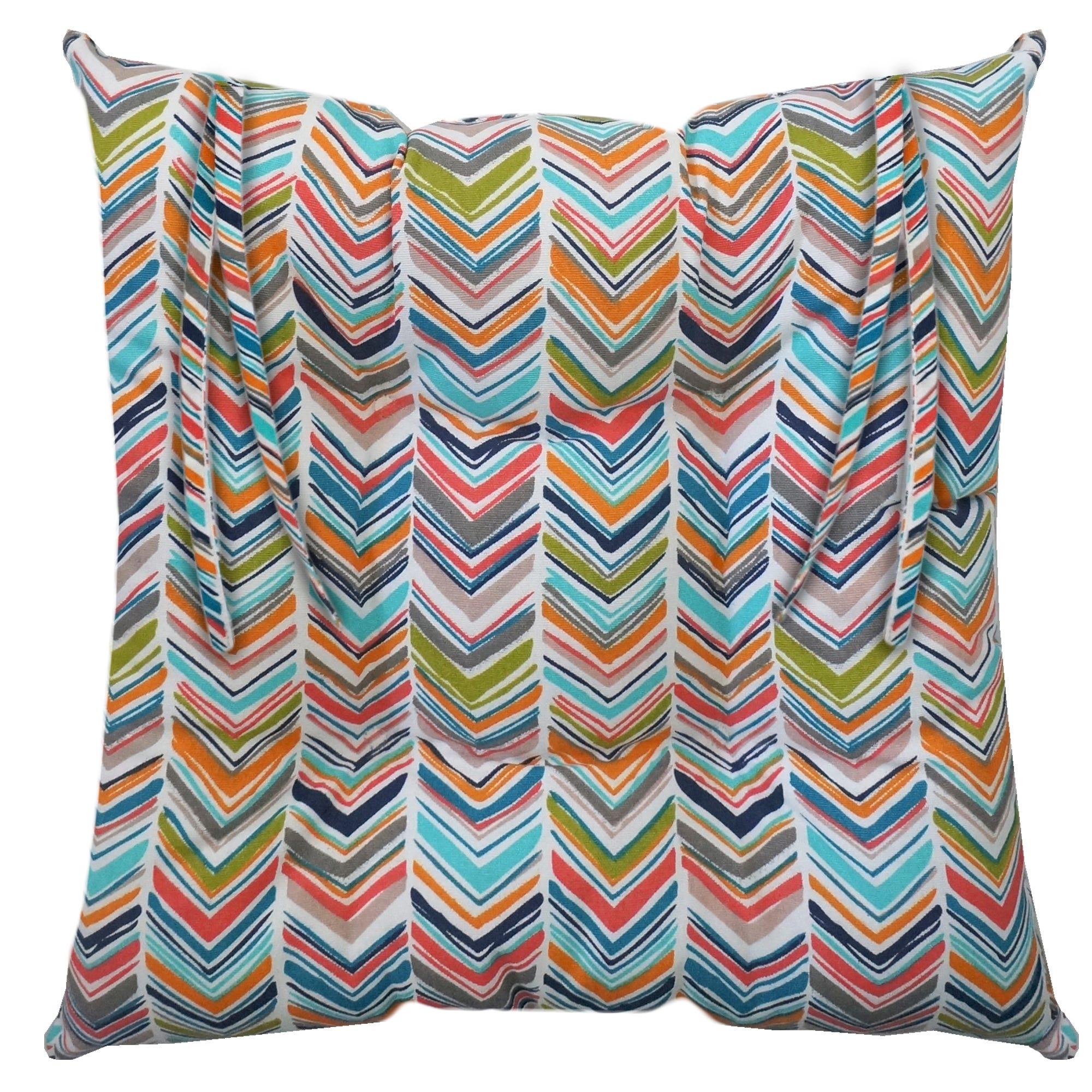 Cojín para silla con patrón multicolor