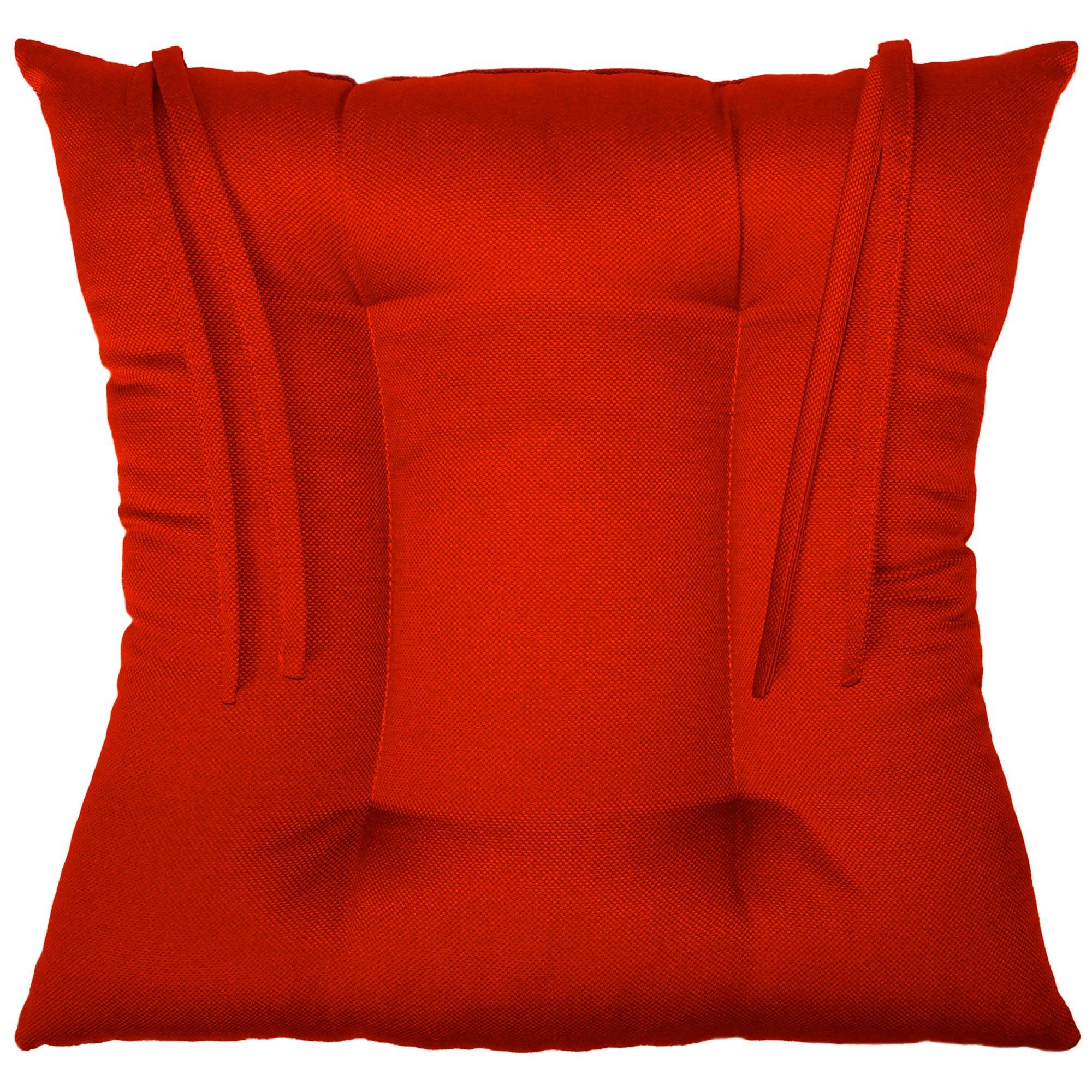 Cojín para silla color rojo