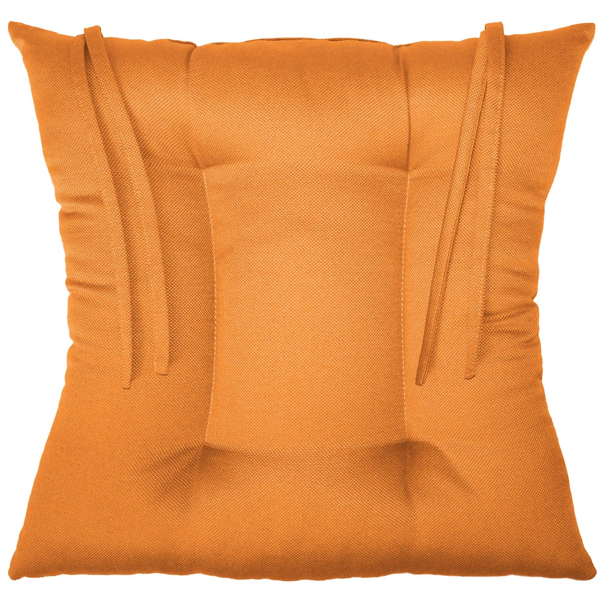 Cojín para silla color naranja