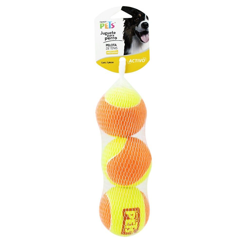 Pelotas de tenis bicolor medianas, Fancy Pets® 3 piezas