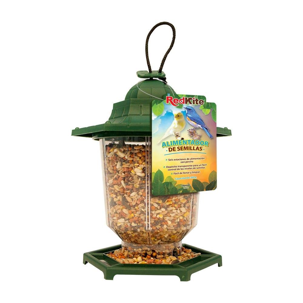 Alimentador de semillas de plástico para ave Redkite®, de 360 g