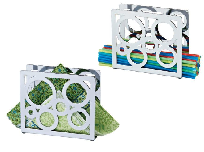 Servilletero Home Ideas®, con decorado de círculos