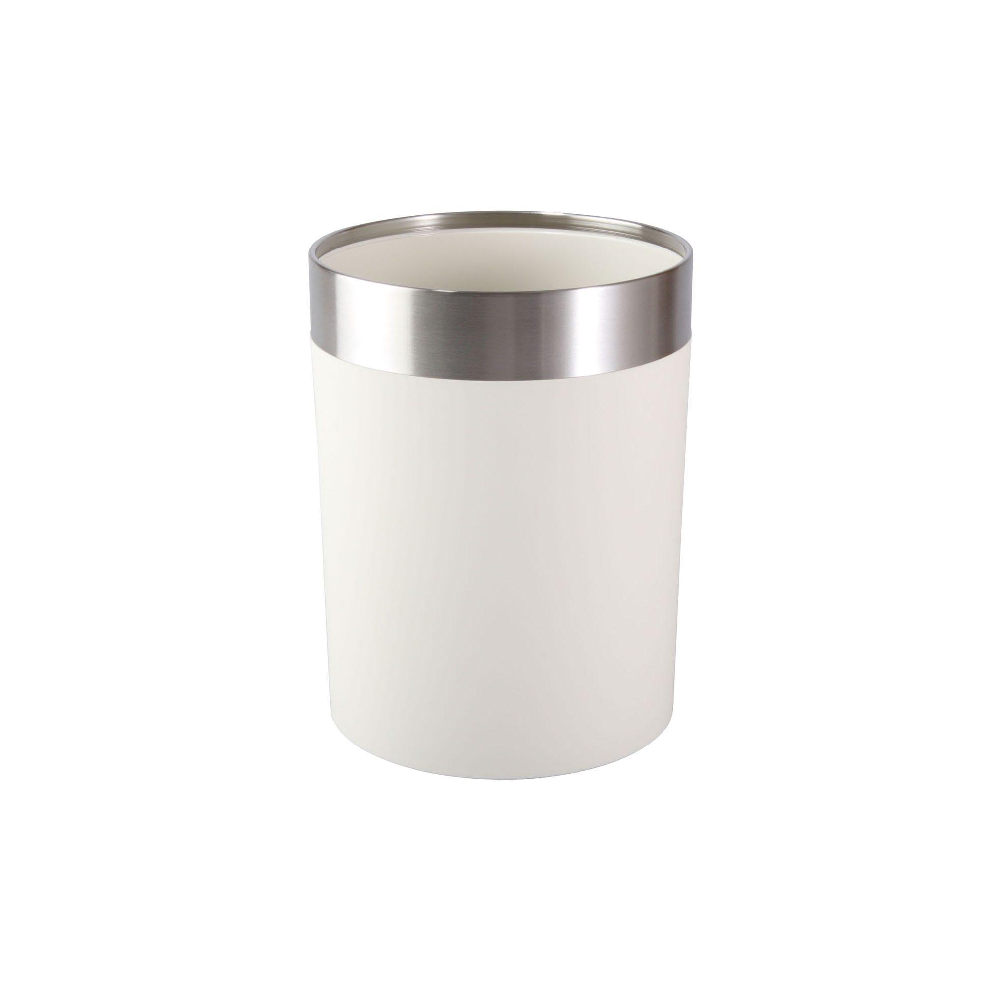Bote de basura Namaro Design™, en blanco