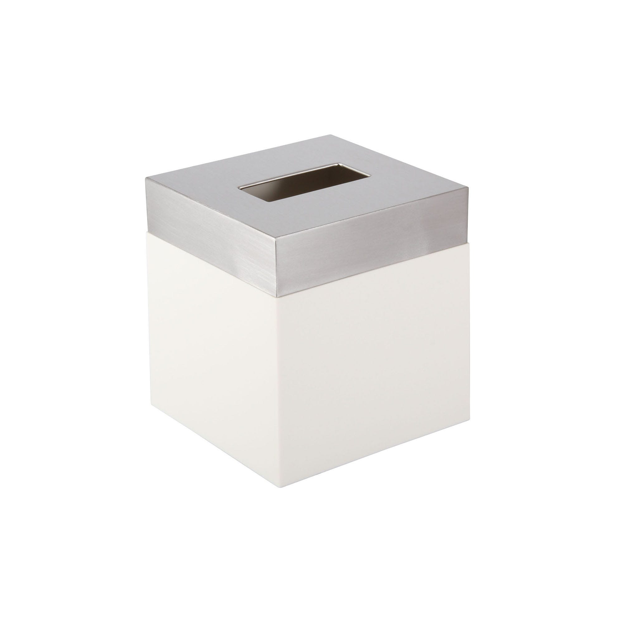 Dispensador de pañuelos desechables Namaro Design™, en blanco