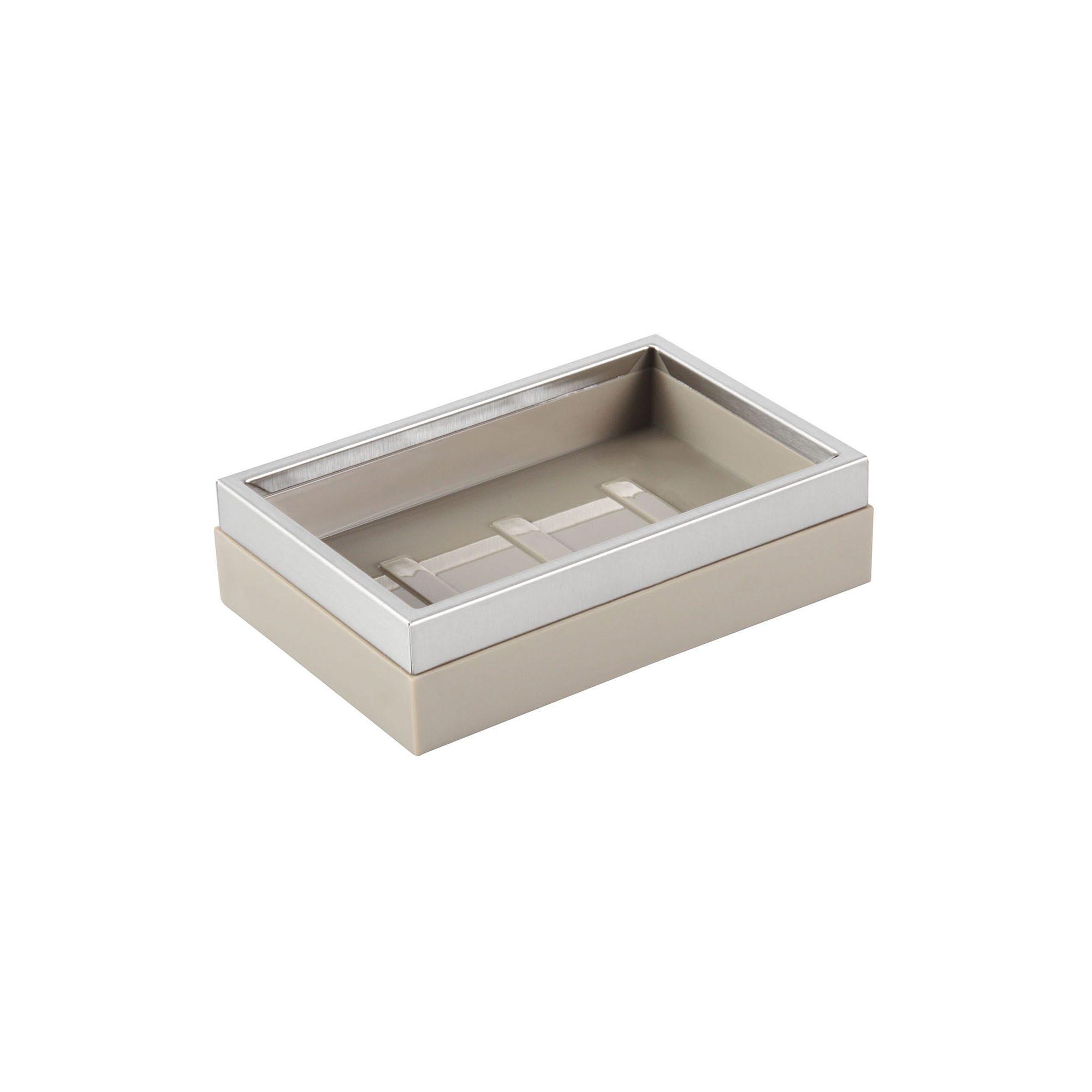 Jabonera cuadrada Namaro Design™, en gris