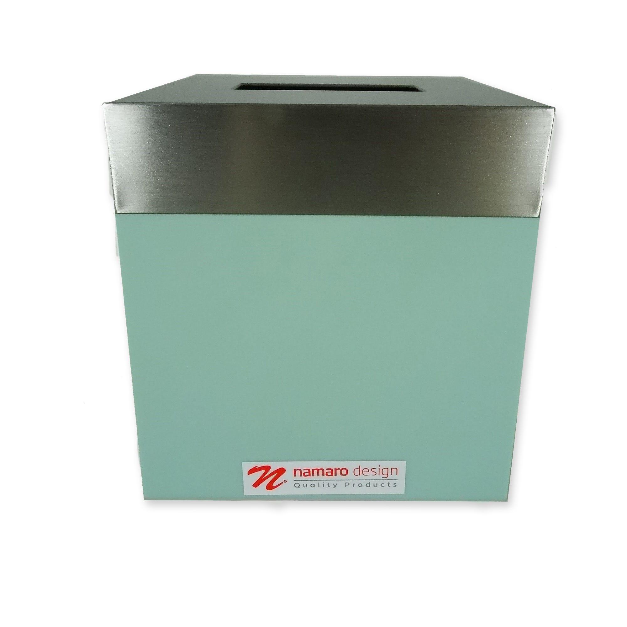 Namaro Design Dispensador de pañuelos desechables en verde menta