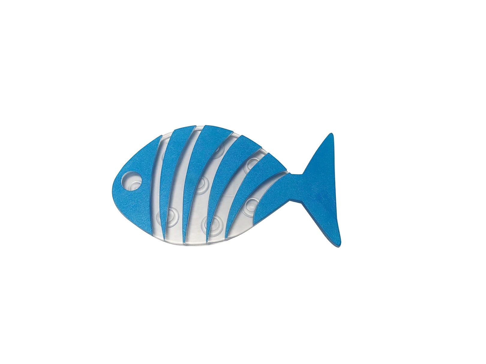 Peces antiderrapantes para regadera Namaro Design en azul, Set de 6