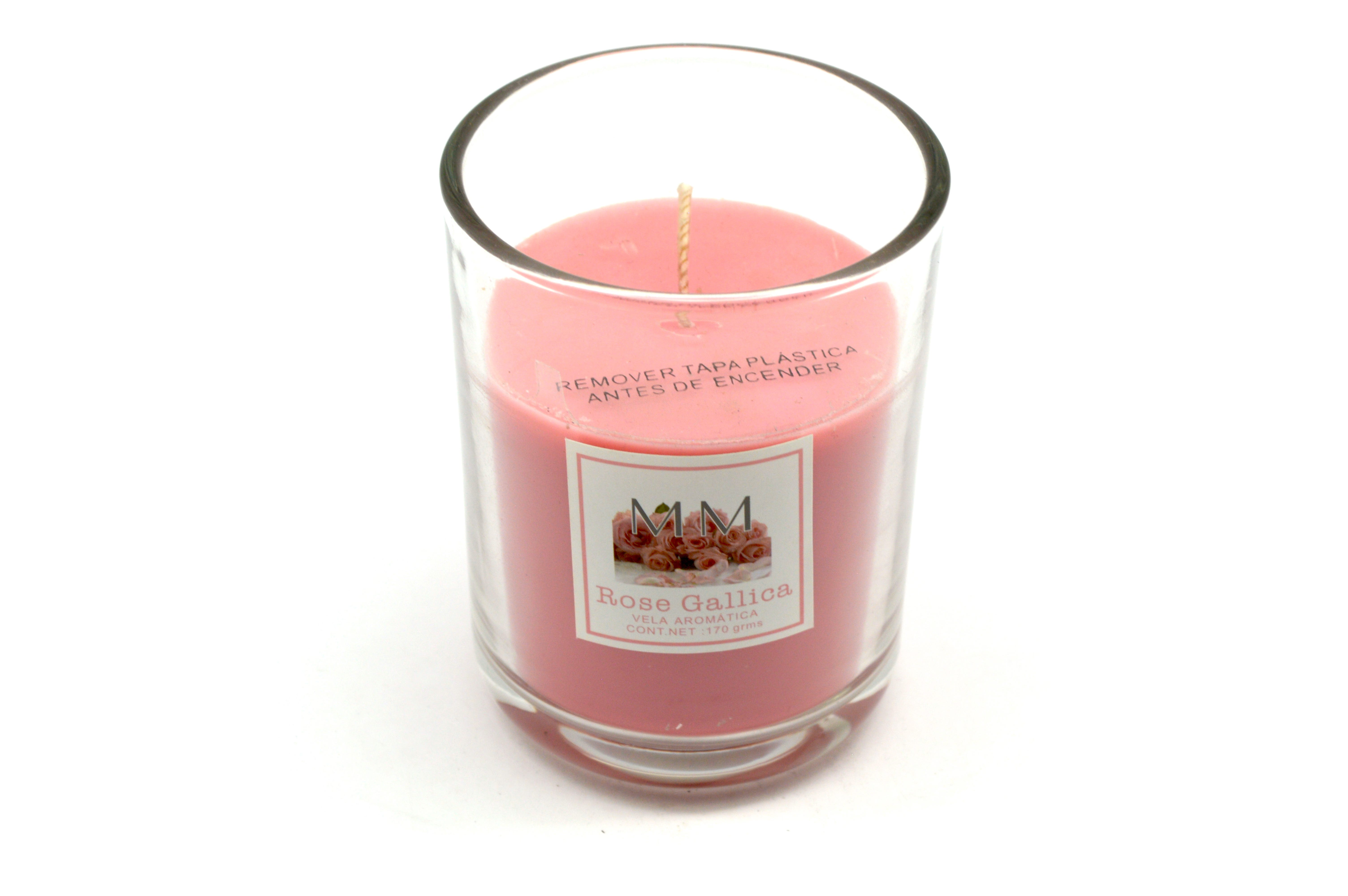 Vela en vaso MM aroma rosa gallica, 170 g