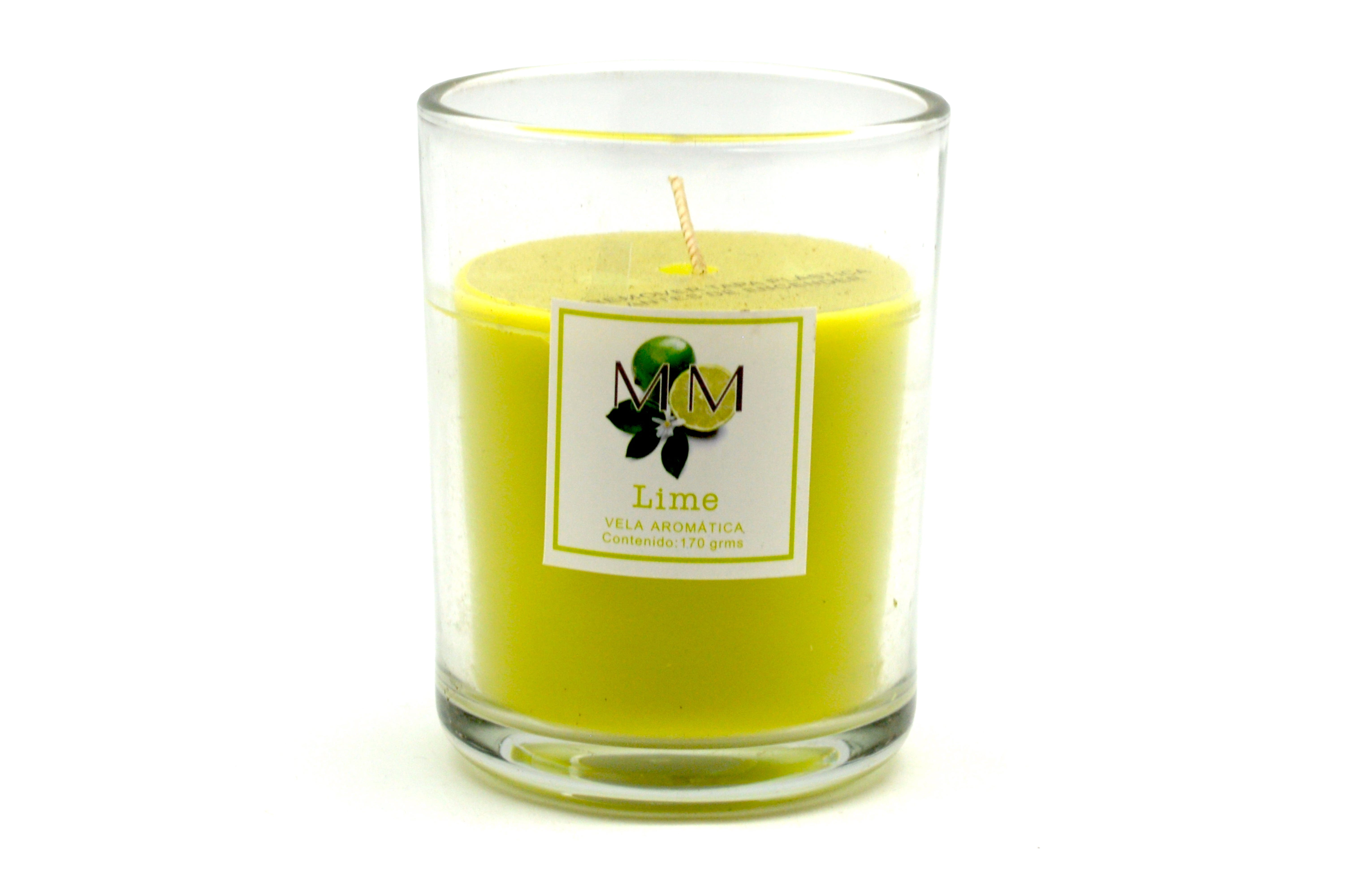 Vela en vaso MM aroma lima, 170 g
