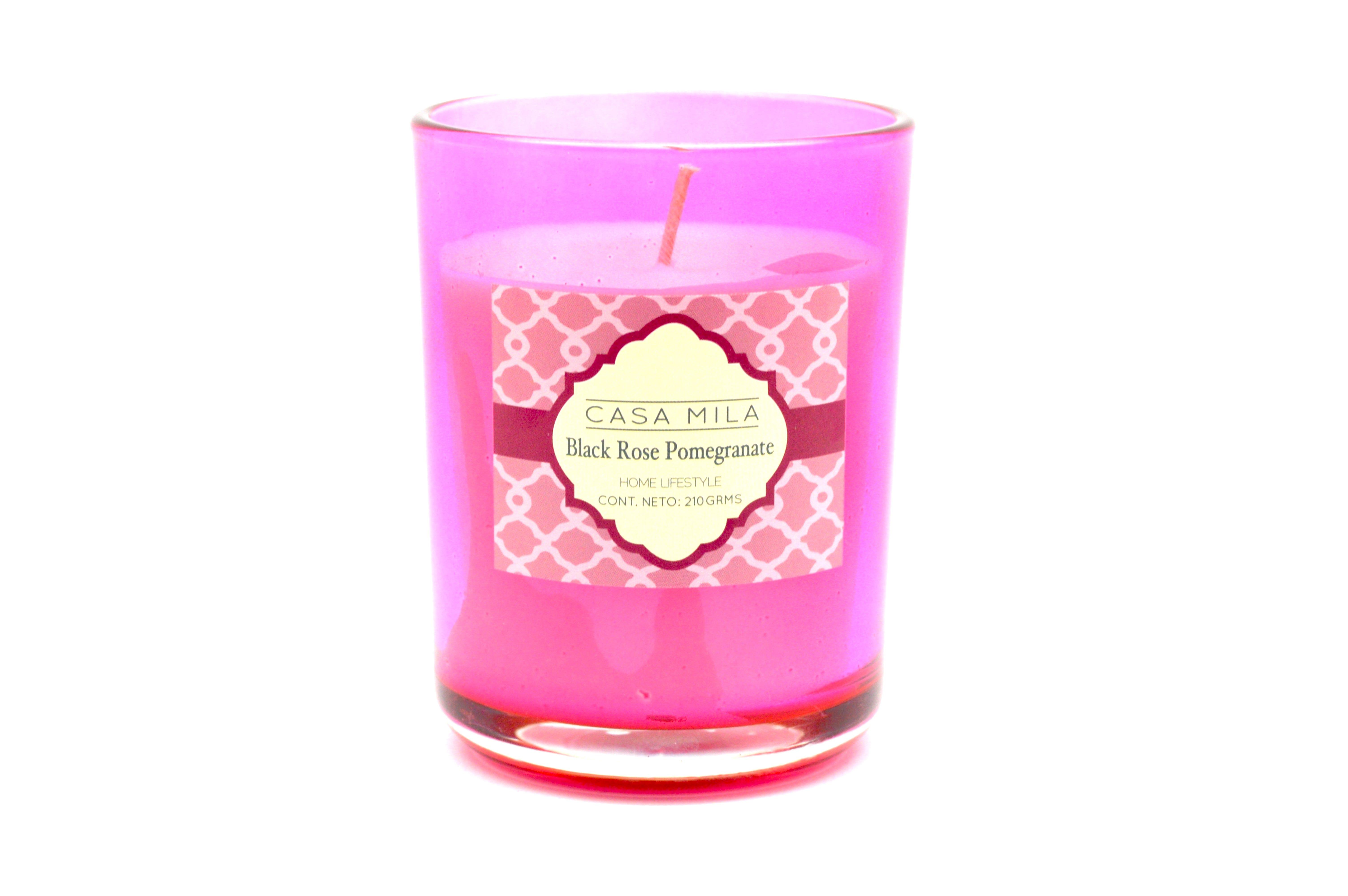 Vela en vaso Casa Mila Home Lifestyle Rose Pomegranate™, 210 g