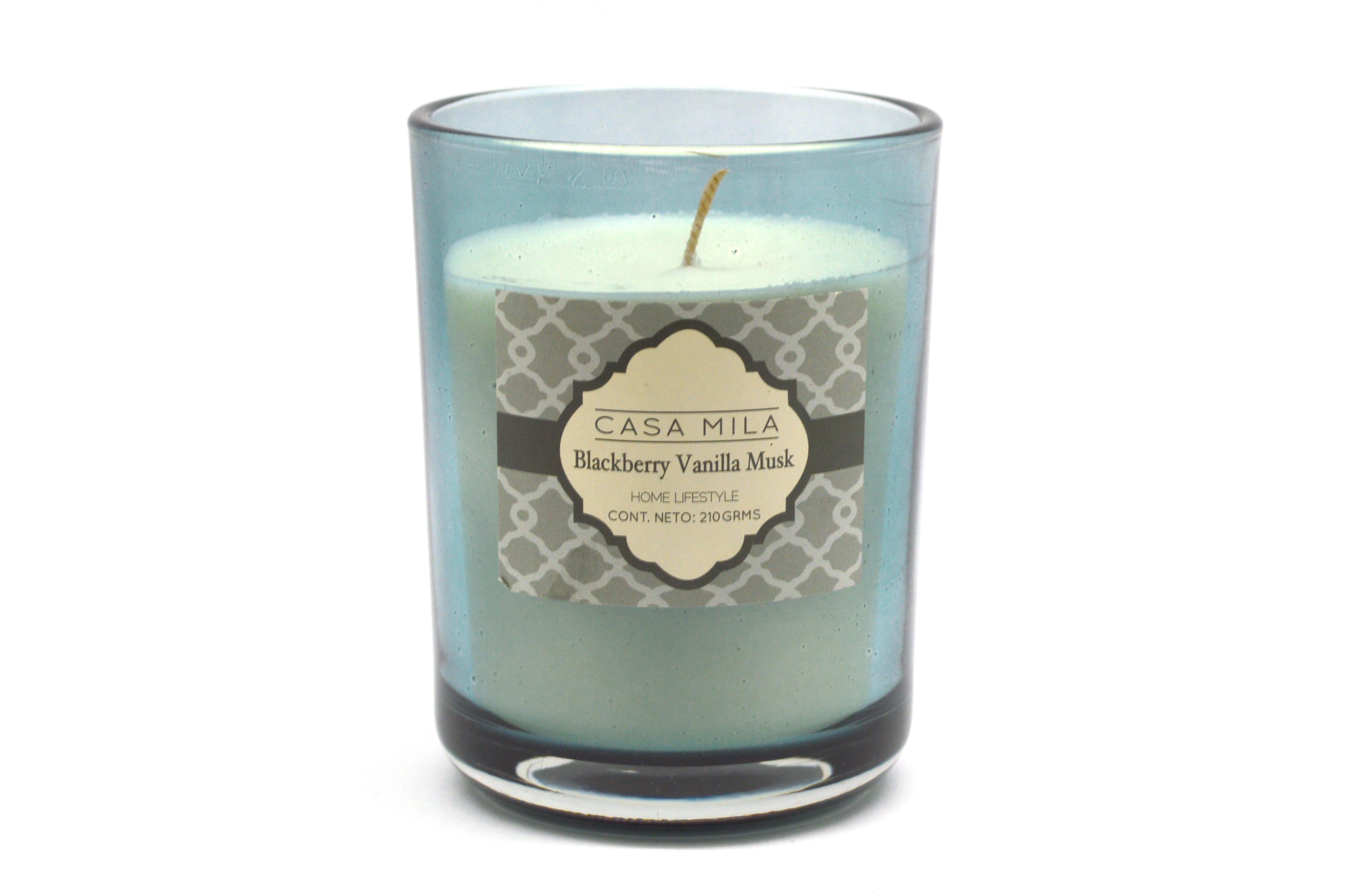 Vela en vaso Casa Mila Home Lifestyle aroma vainilla y moras, 210 g